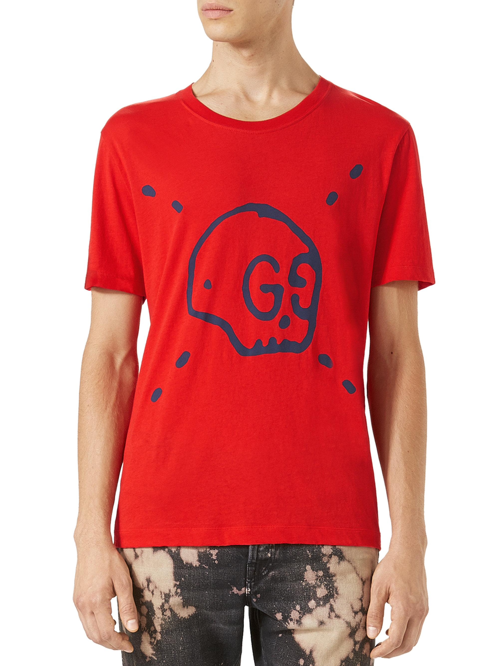 Lyst - Gucci Ghost Tee in Black for Men