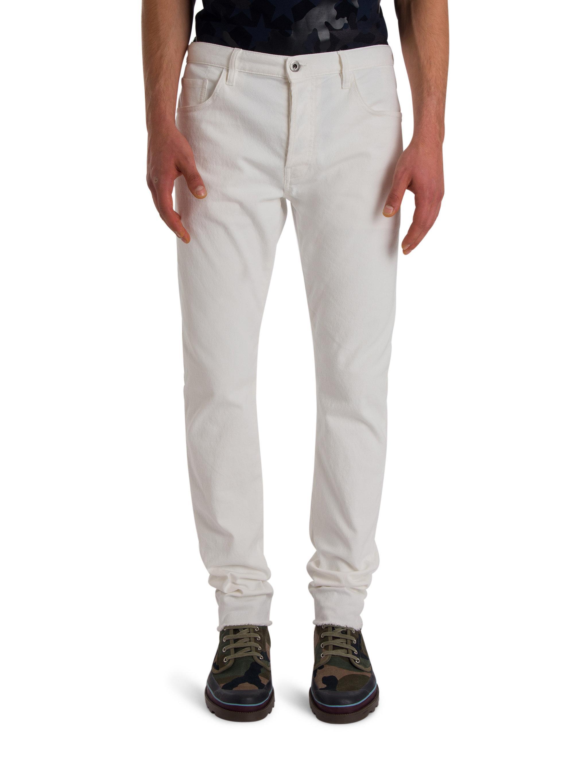 Valentino Slim-fit Denim Jeans in White for Men | Lyst