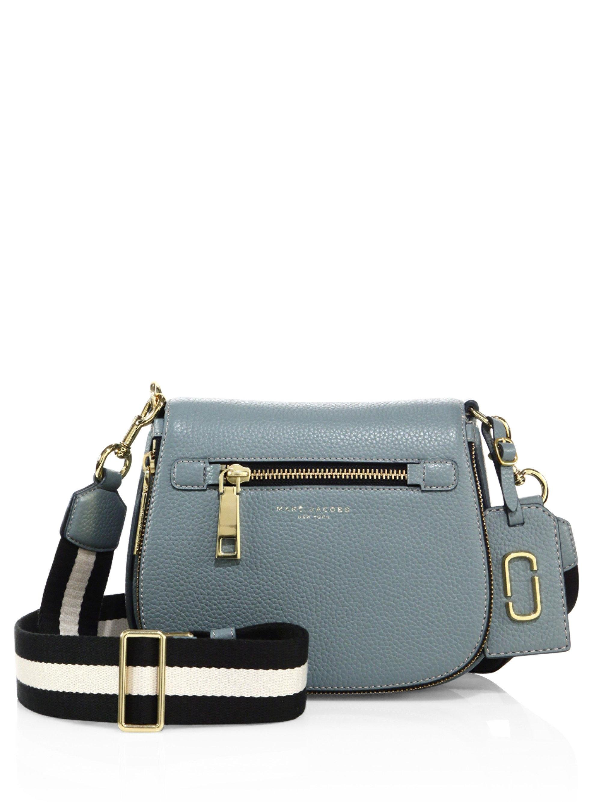 ff539a0003b82 Lyst - Marc Jacobs Gotham Small Leather Saddle Bag in Blue