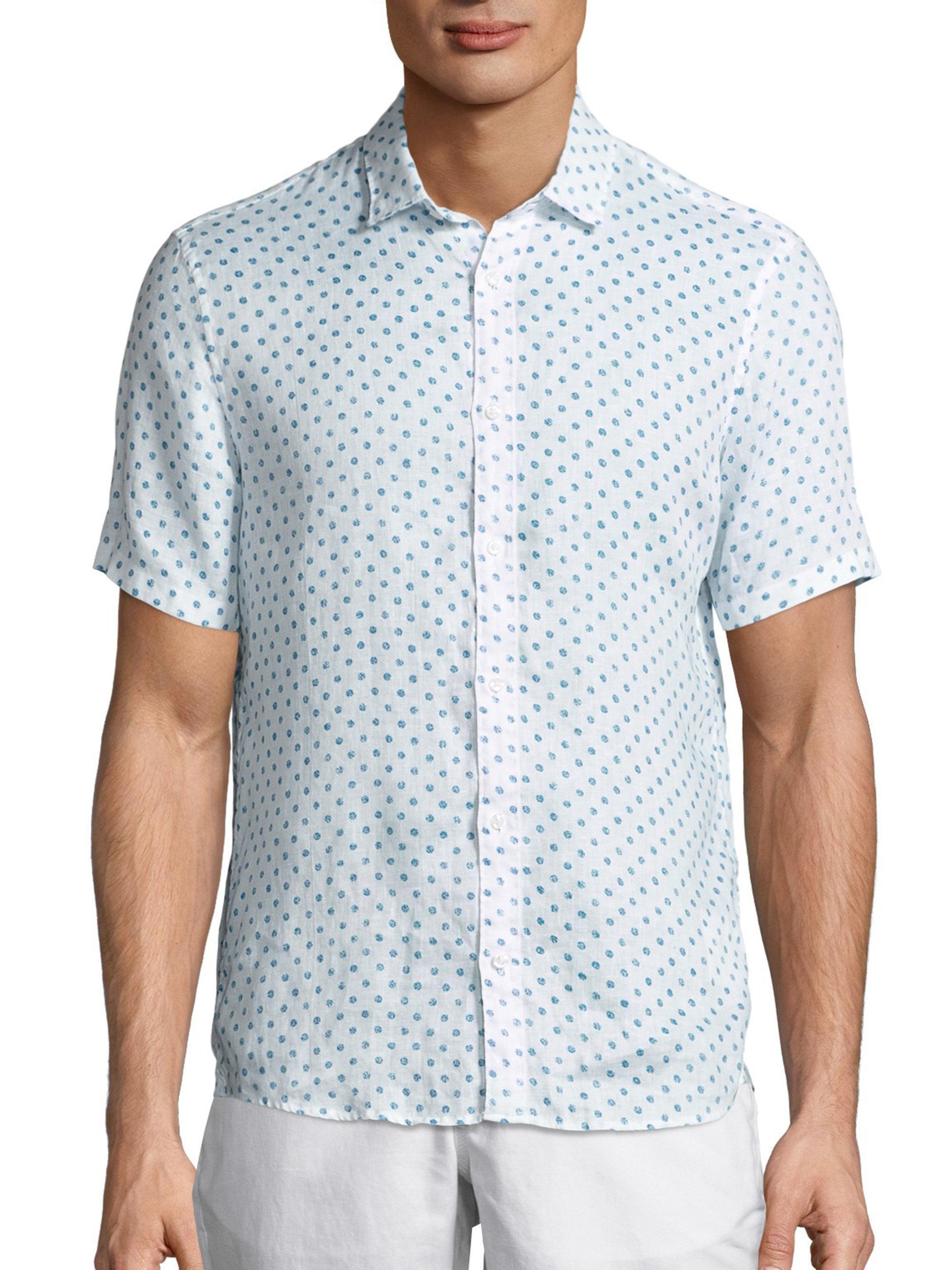 Michael Kors Mason Slim Fit Shirt In Blue For Men Lyst