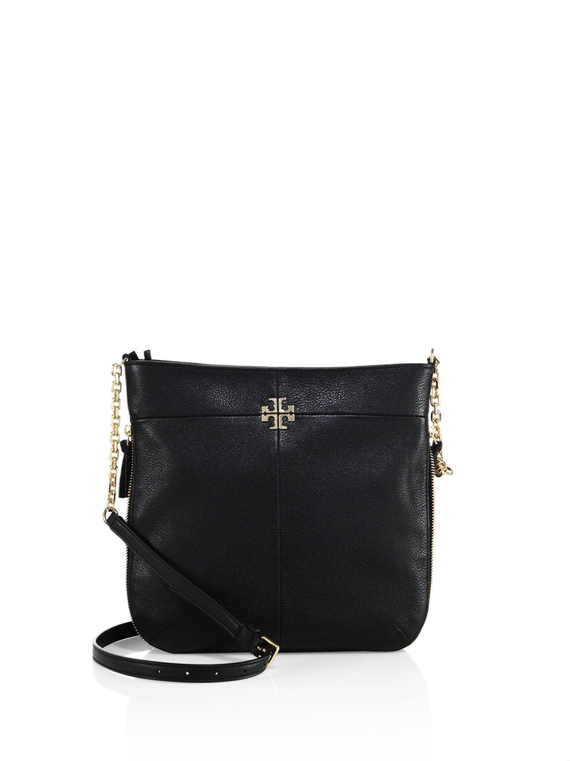 3f474ced0c07 Lyst - Tory Burch Ivy Convertible Leather Shoulder Bag in Black