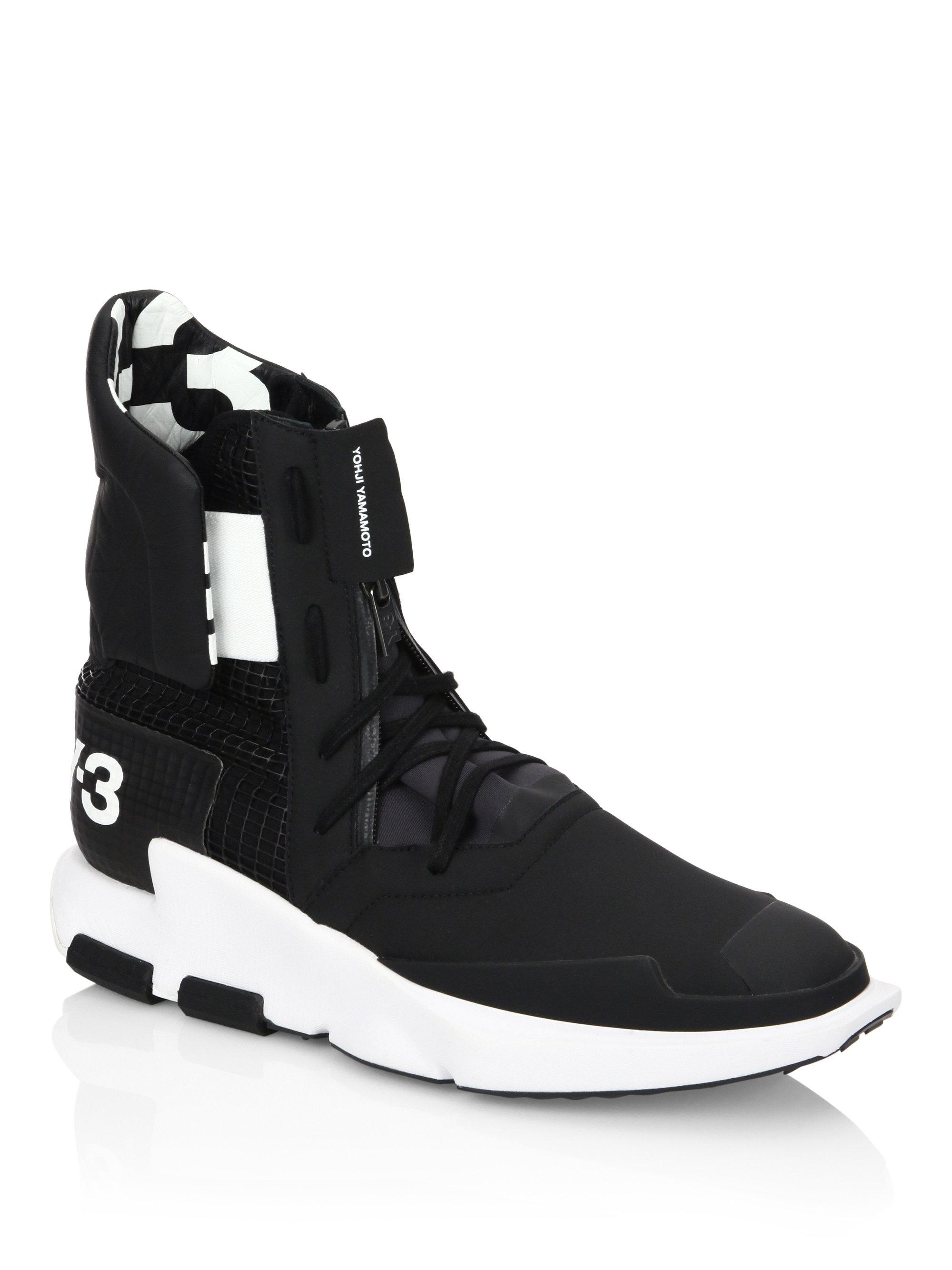 super popular 97f64 b61ad Y-3 Y3 Noci High Top Sneakers in Black for Men - Lyst