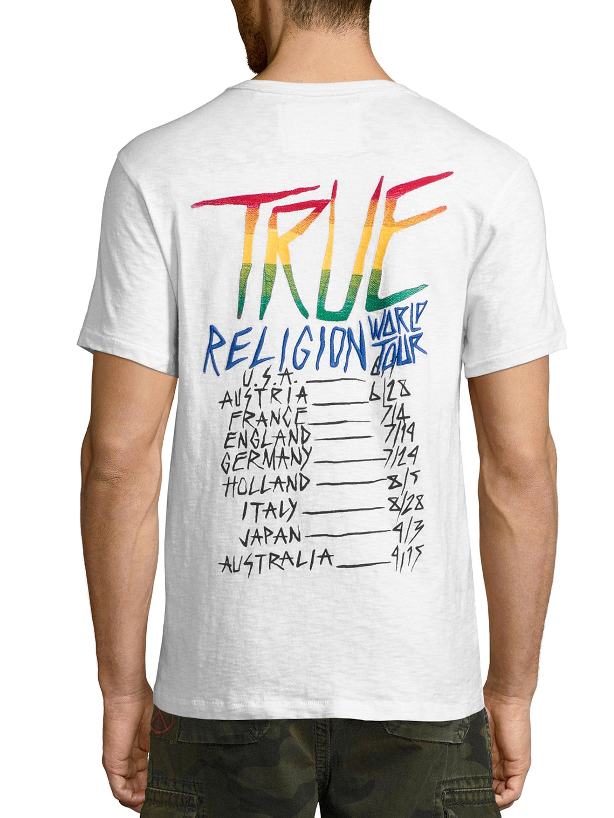 It is an image of Adaptable True Religion Return Label