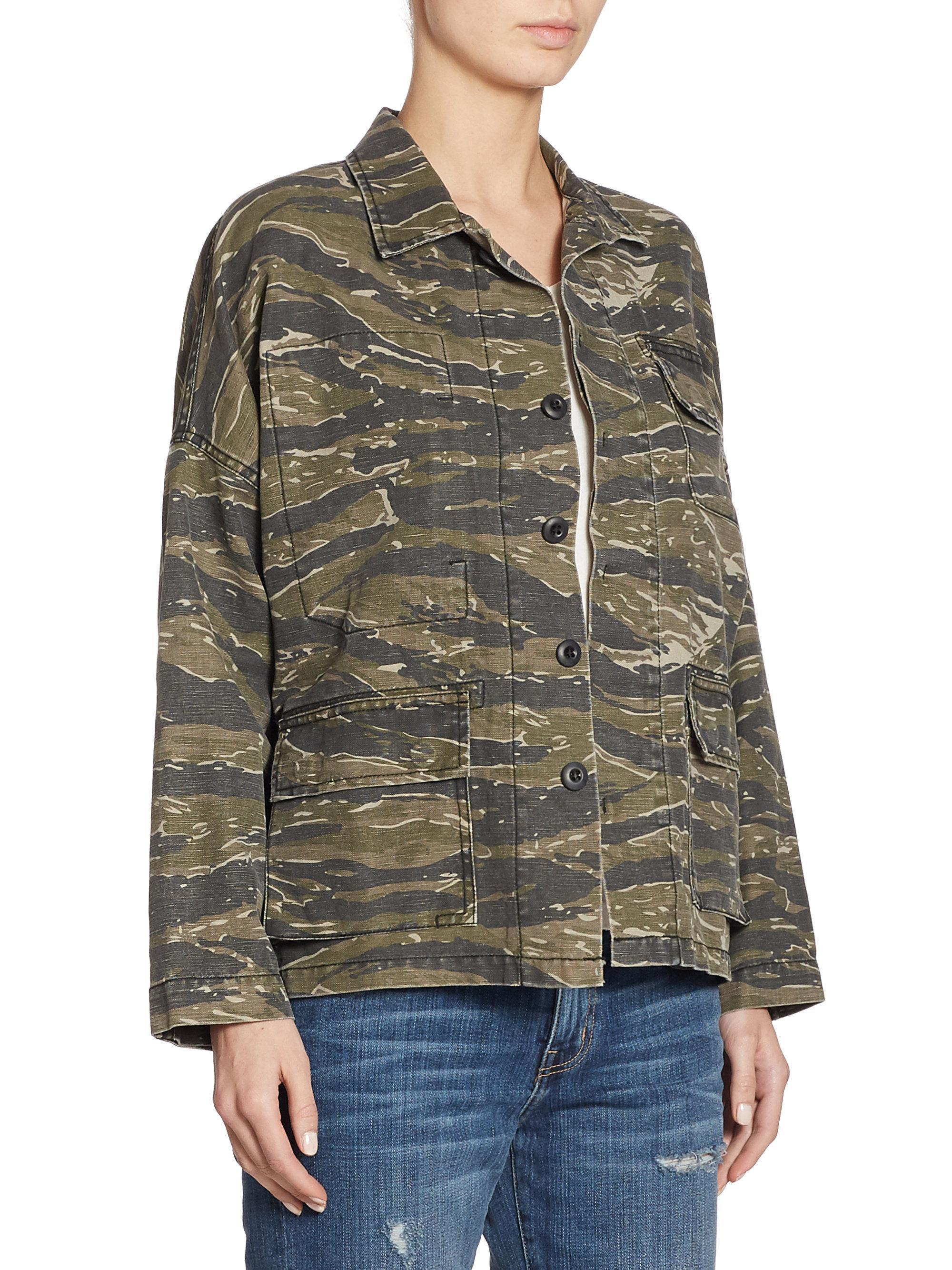 Lyst Current Elliott Camo Army Jacket