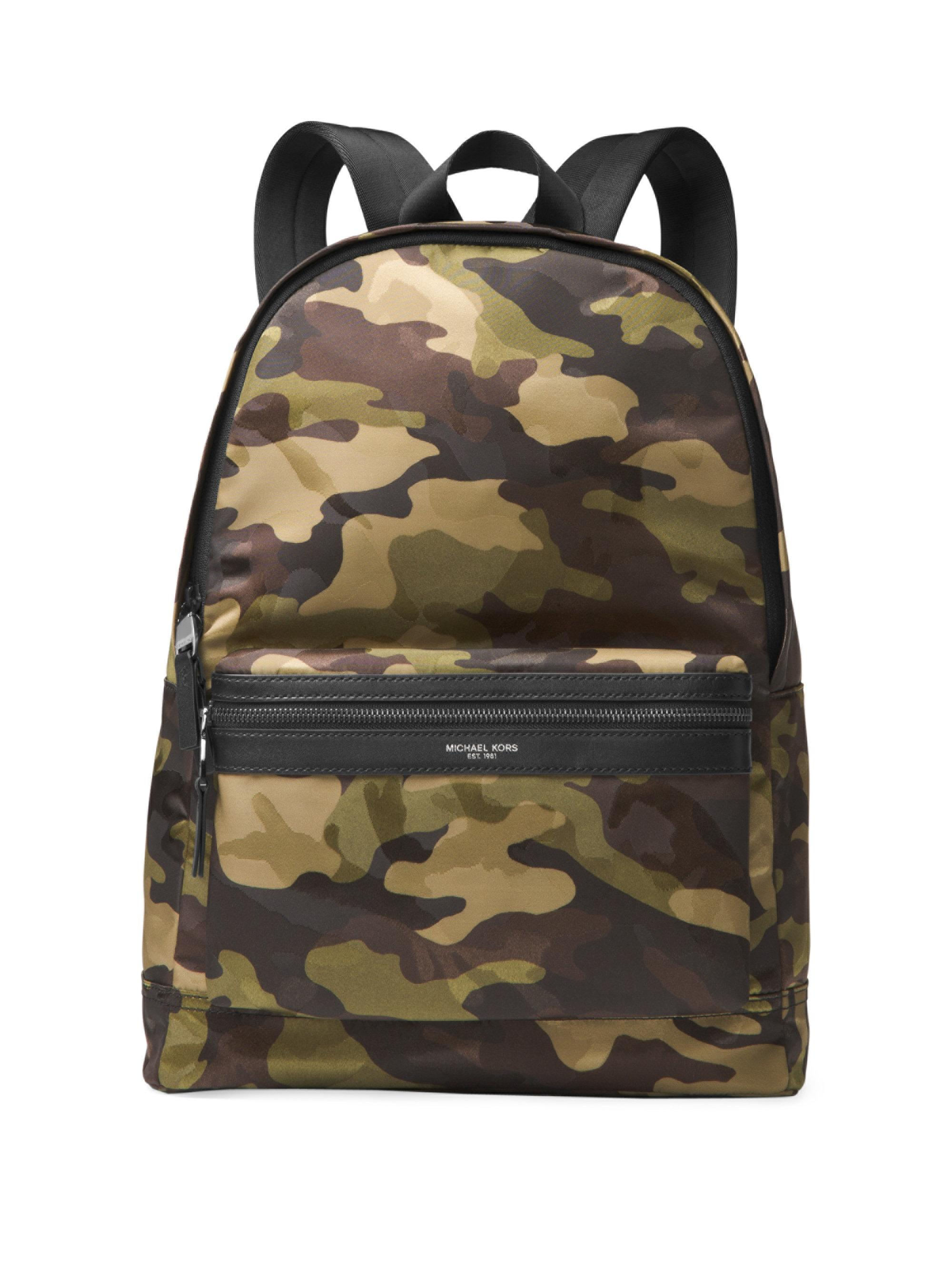 740465a370b2 Lyst - Michael Kors Military Camouflage Backpack in Blue for Men