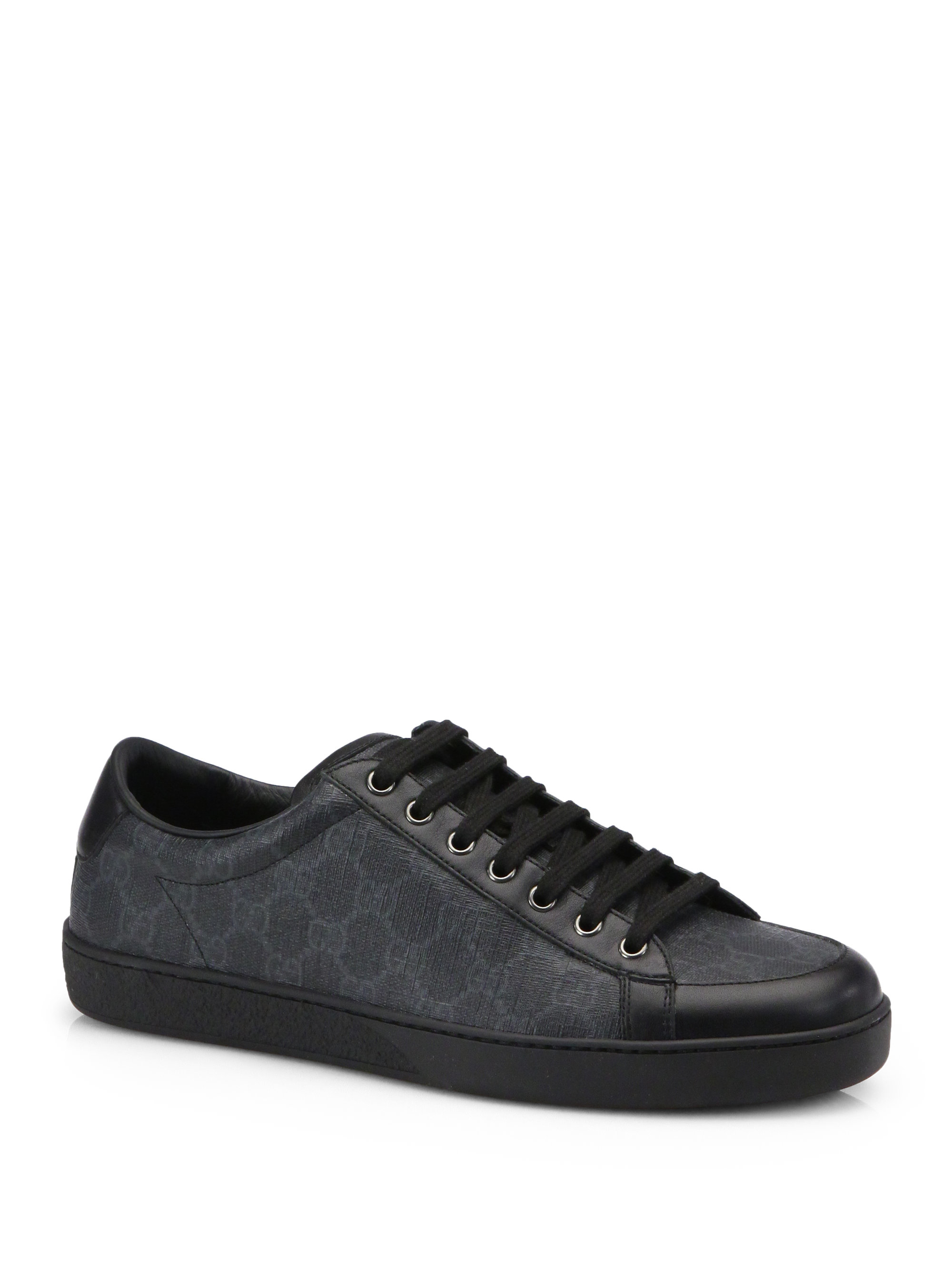 Lyst Gucci Brooklyn Gg Lace Up Sneakers In Black For Men