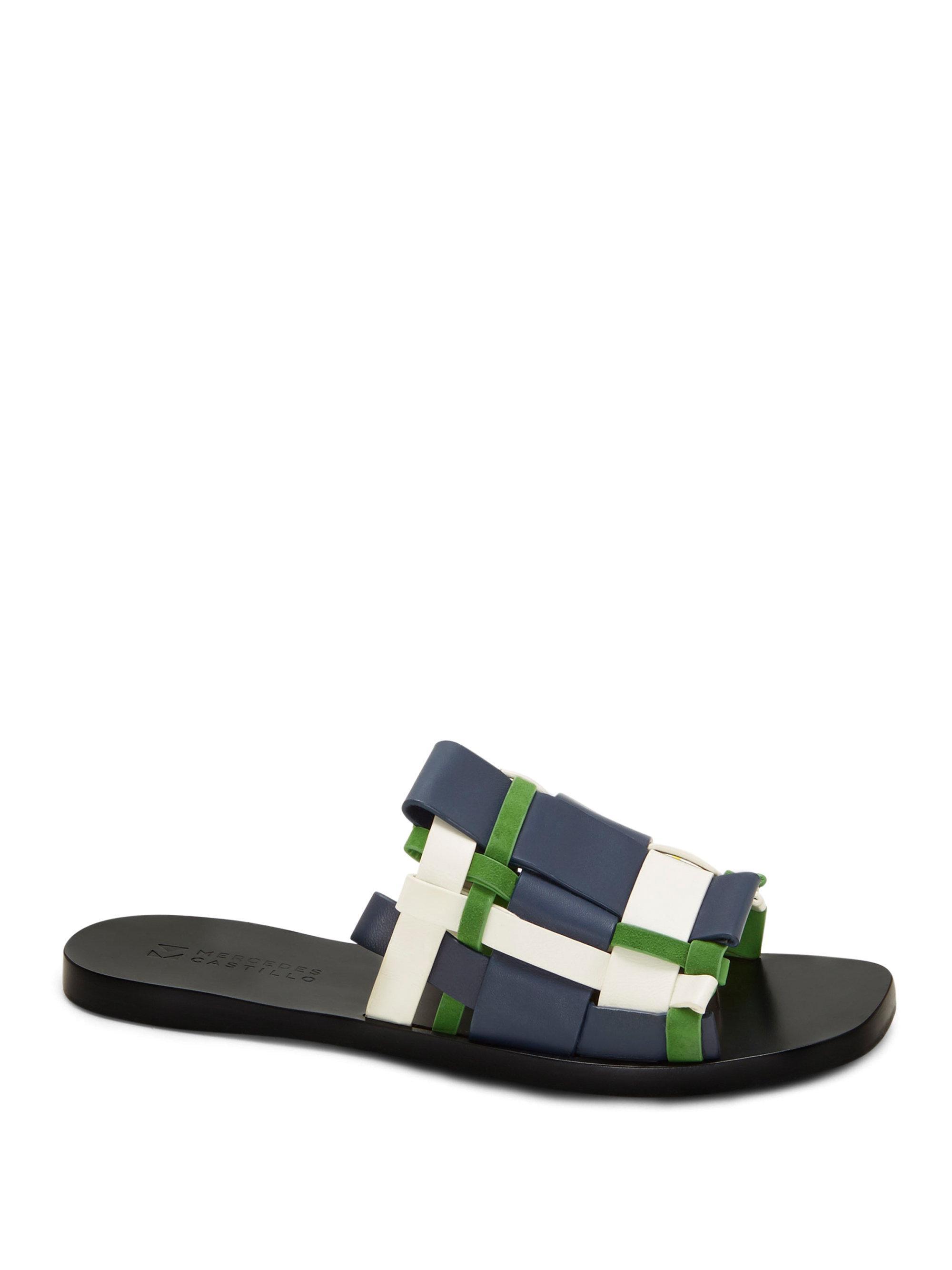 Mercedes Castillo Niala Woven Slide Sandals cIid0zEqT
