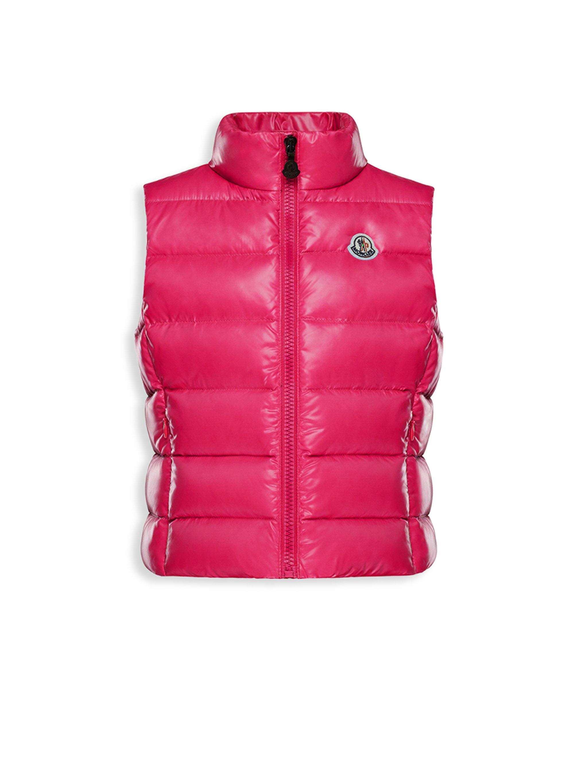 3521d18ebdb5 Moncler Girl s Ghany Vest in Pink - Lyst
