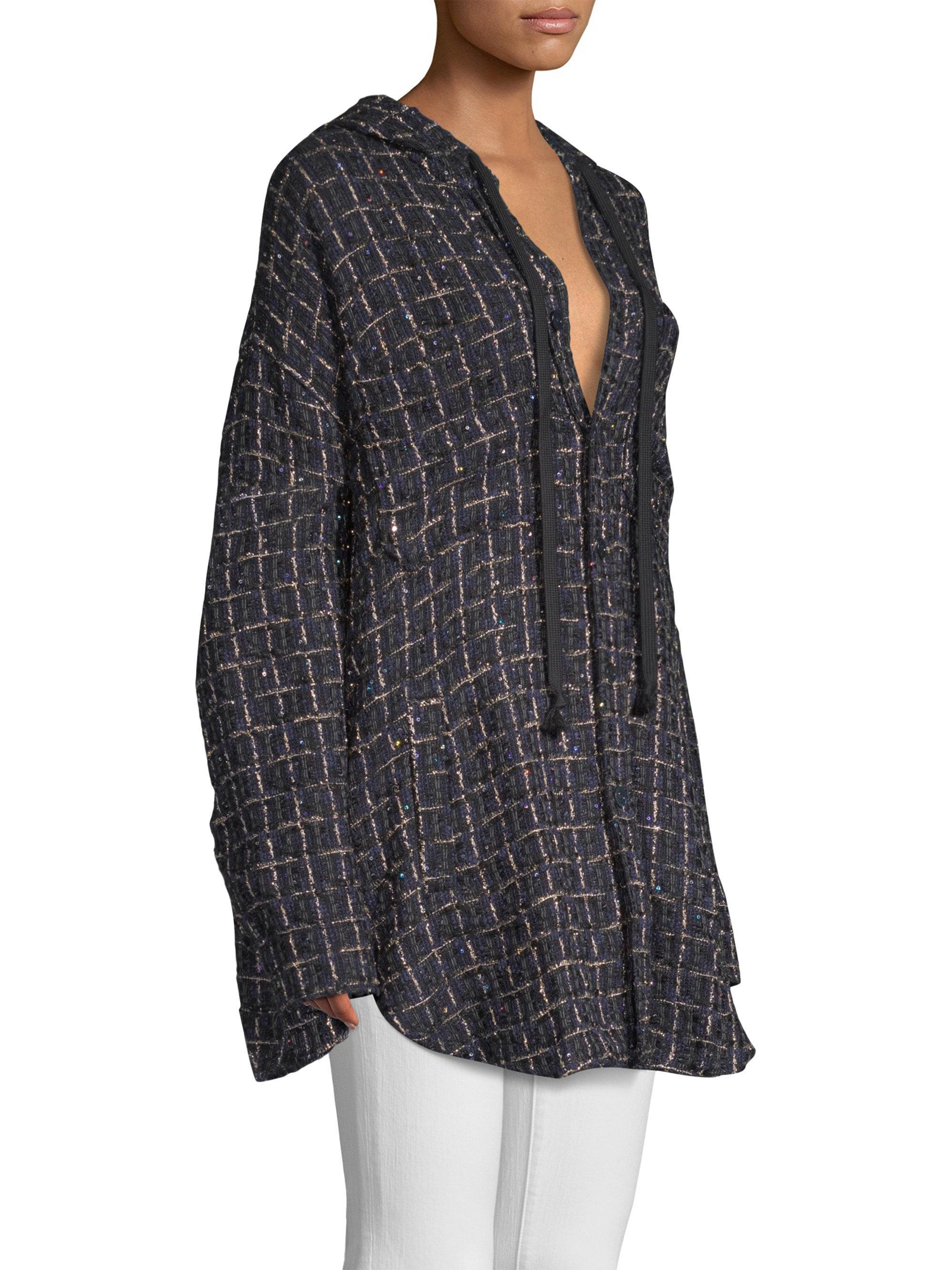 Lyst In Tweed Sweatshirt Faith Black Button Connexion Front qMpzGLSVjU
