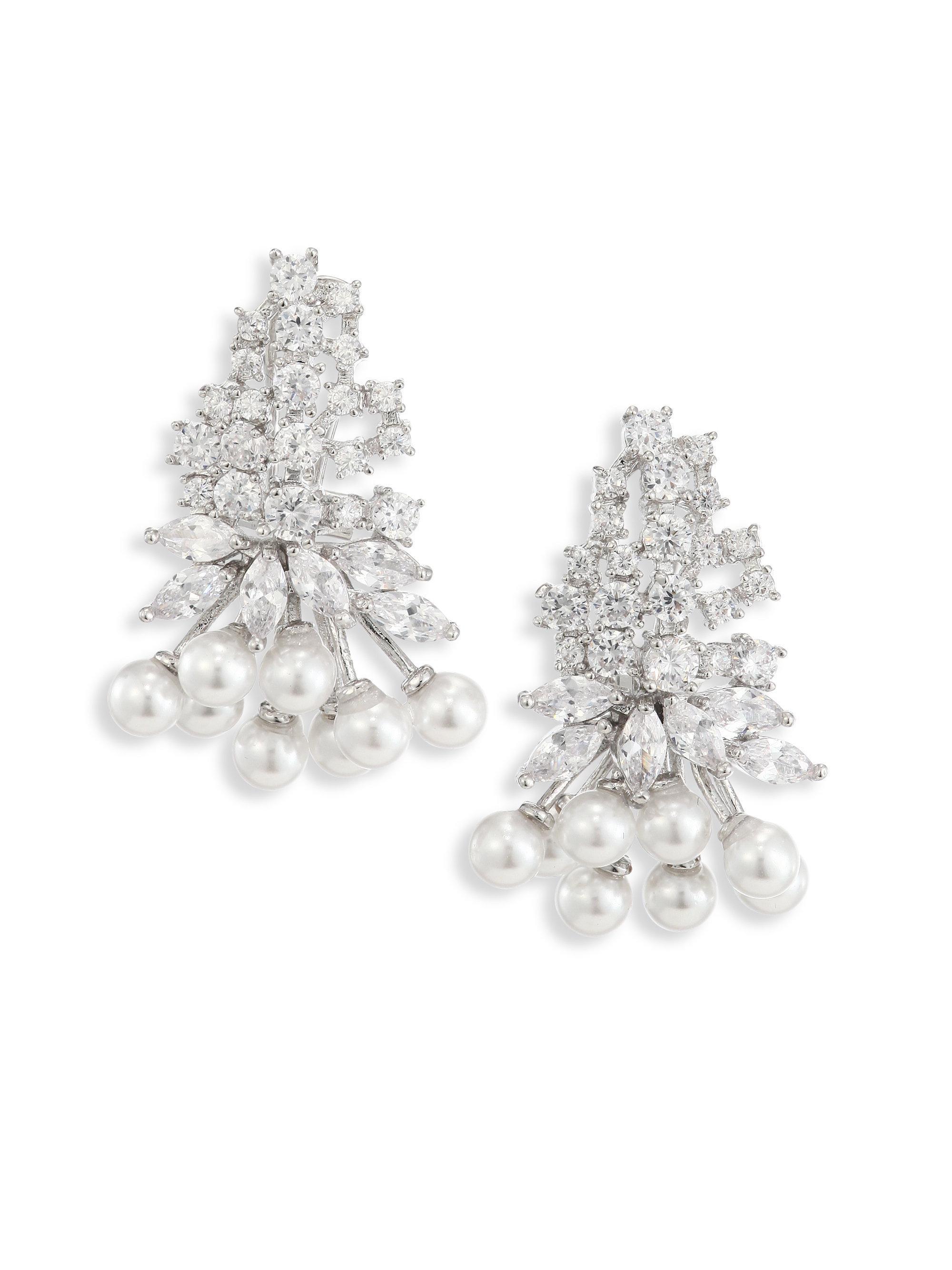 Fallon Monarch Mini Cluster Crystal Earrings Tt8waFuhE