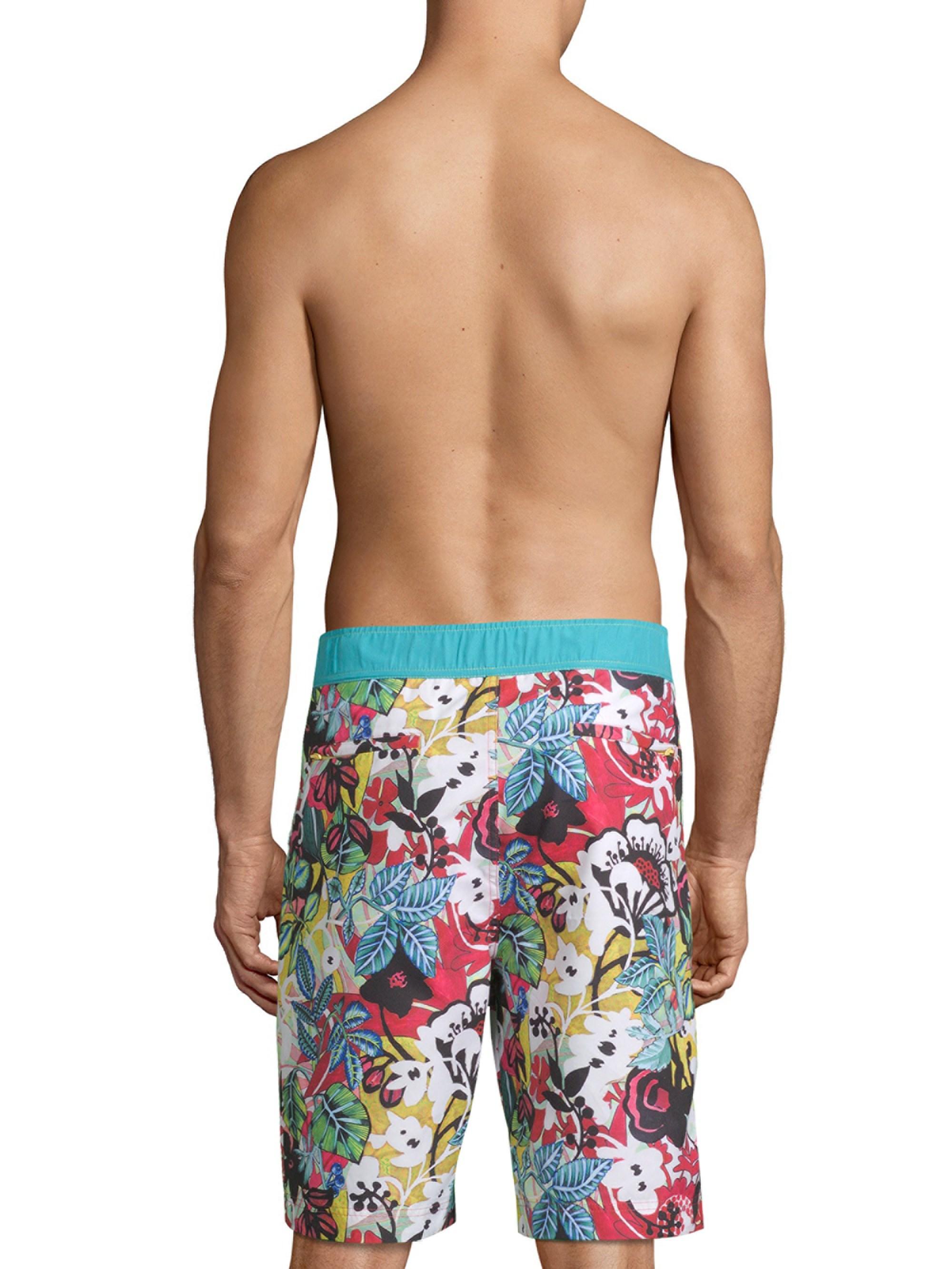 535d7535dc Lyst - Robert Graham Barbarito Tropical Board Shorts in Blue for Men
