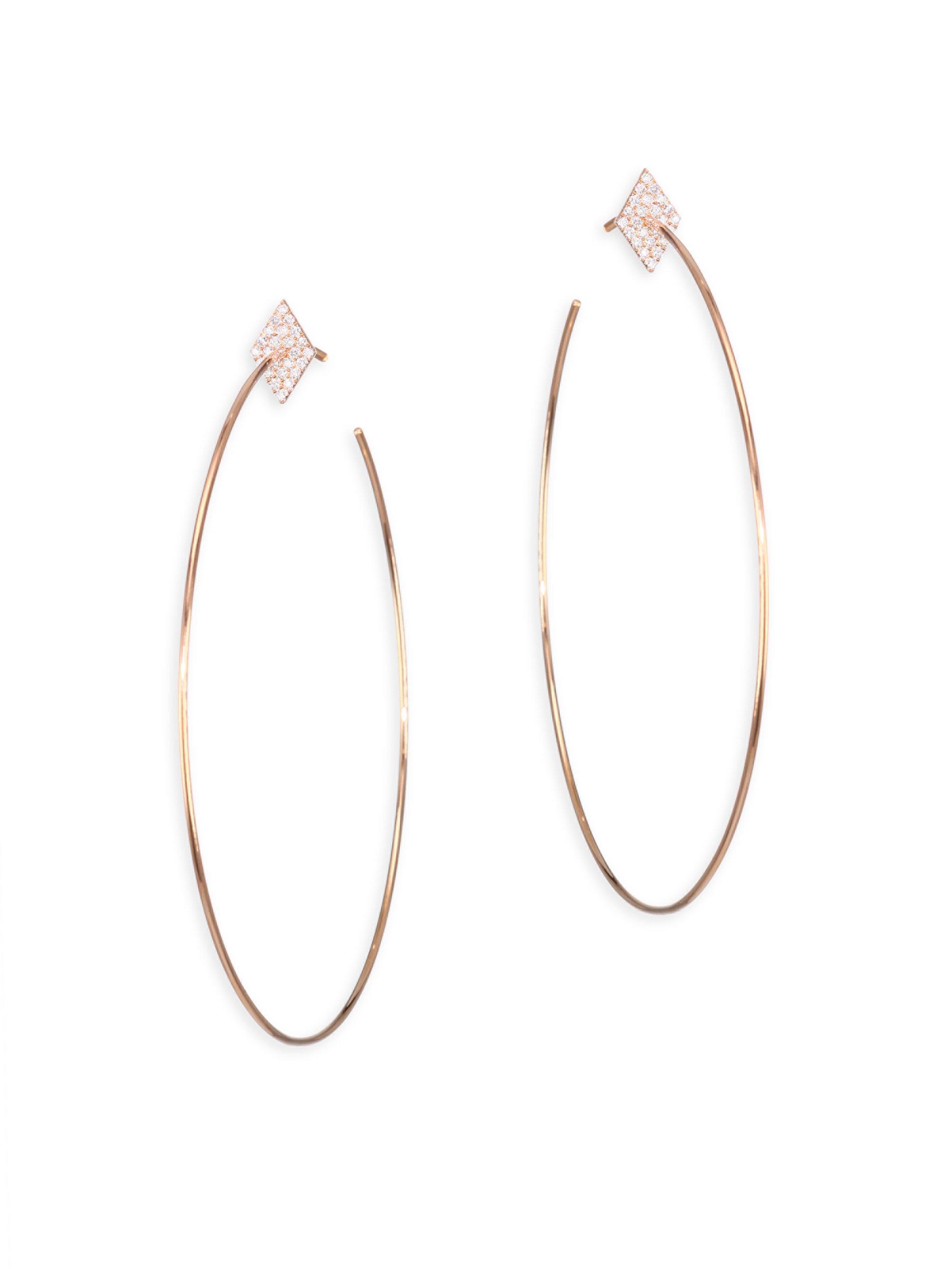 Diane Kordas star hoop earrings - Metallic eOXpDUX0j