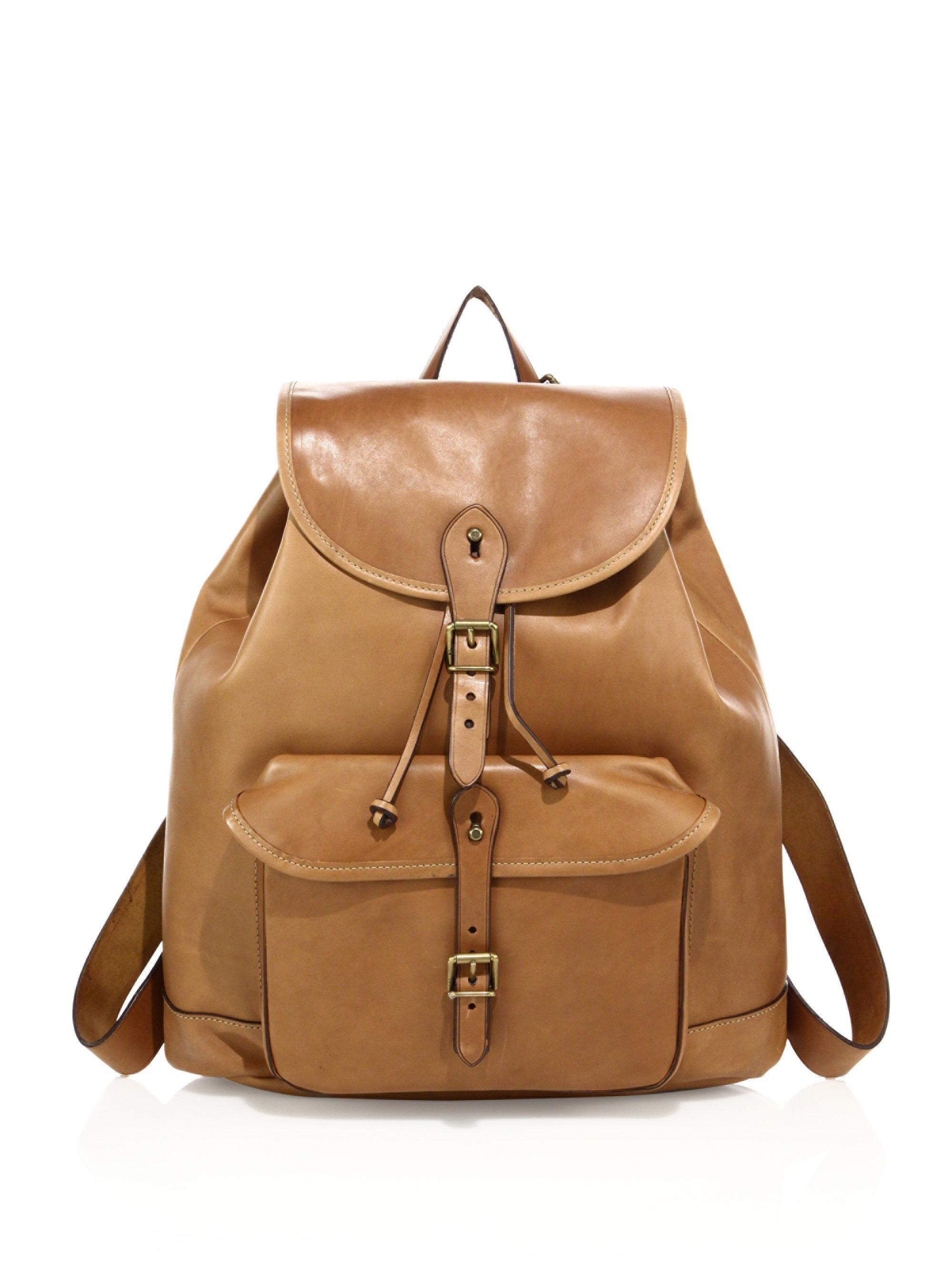 1a55eddb2c74 Lyst - Polo Ralph Lauren Drawstring Leather Backpack for Men