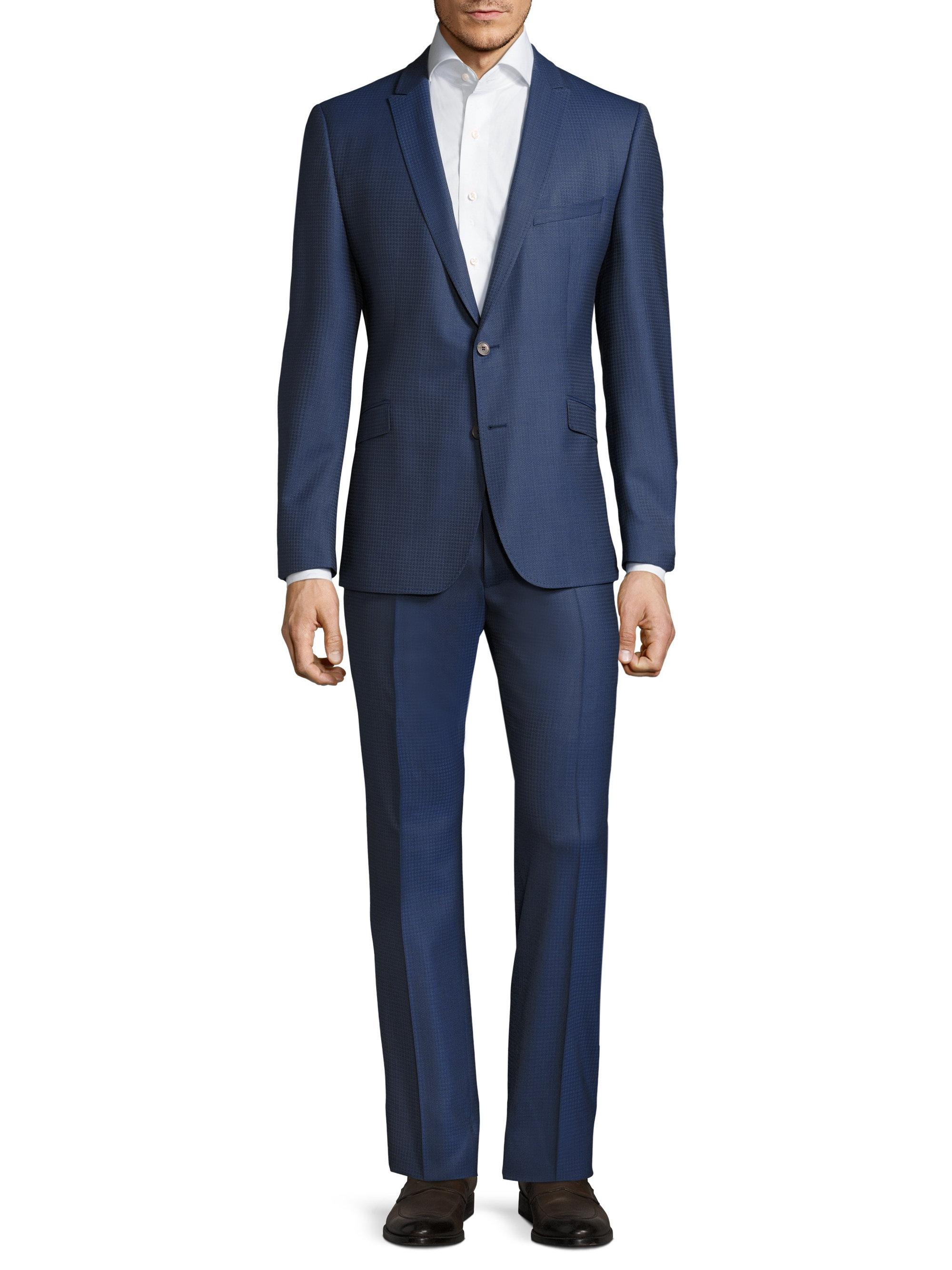 Lyst Strellson Houndstooth Two Button Suit In Blue For Men