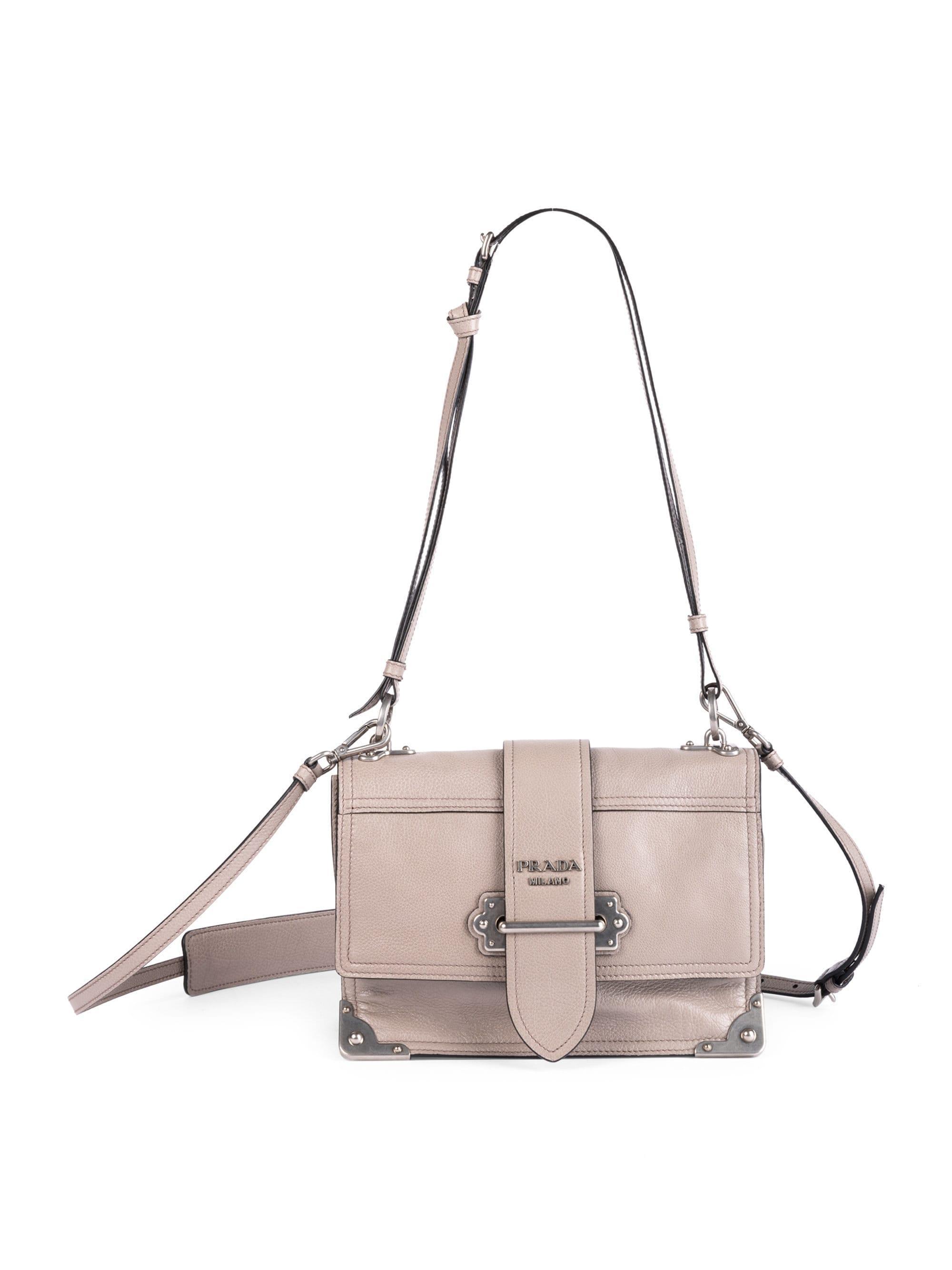 7f92d45a208105 Prada Large Soft Cahier Shoulder Bag - Lyst