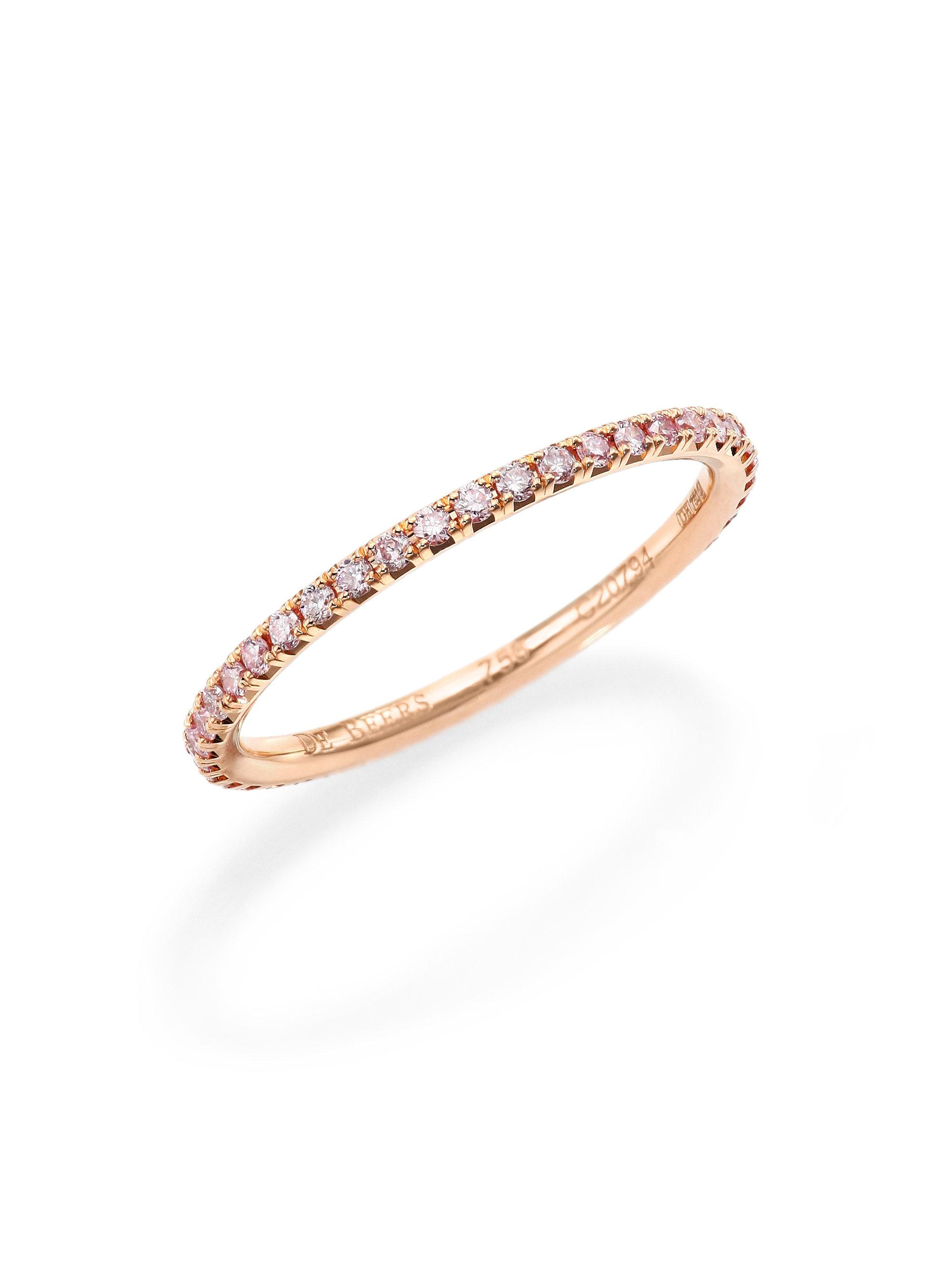 gold pink band products banns yellow bands stone diamond strand eternity stacking white bezel and