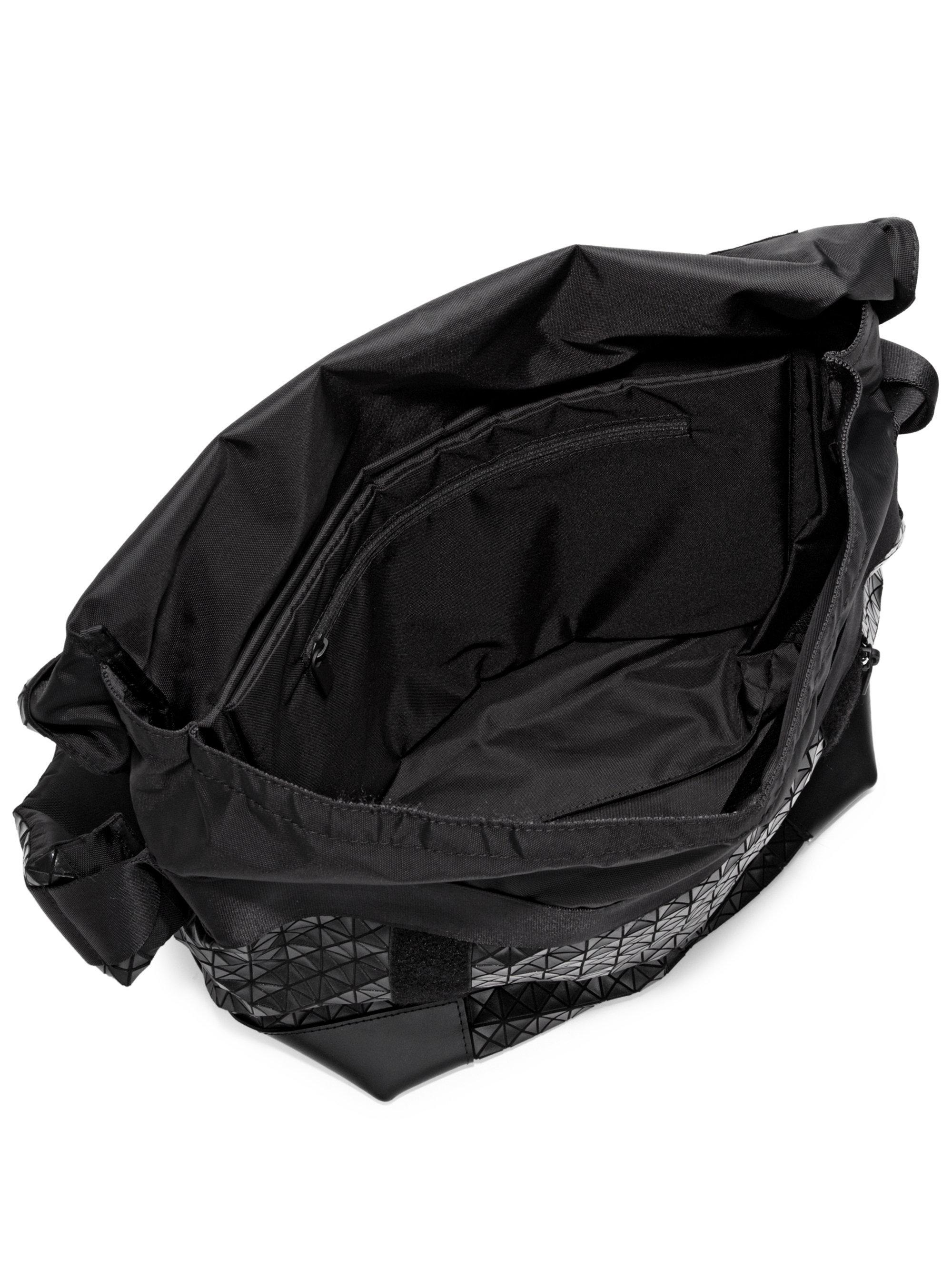 808c9f3fc8cc Bao Bao Issey Miyake Geometric Paneled Rider Messenger Bag in Black ...