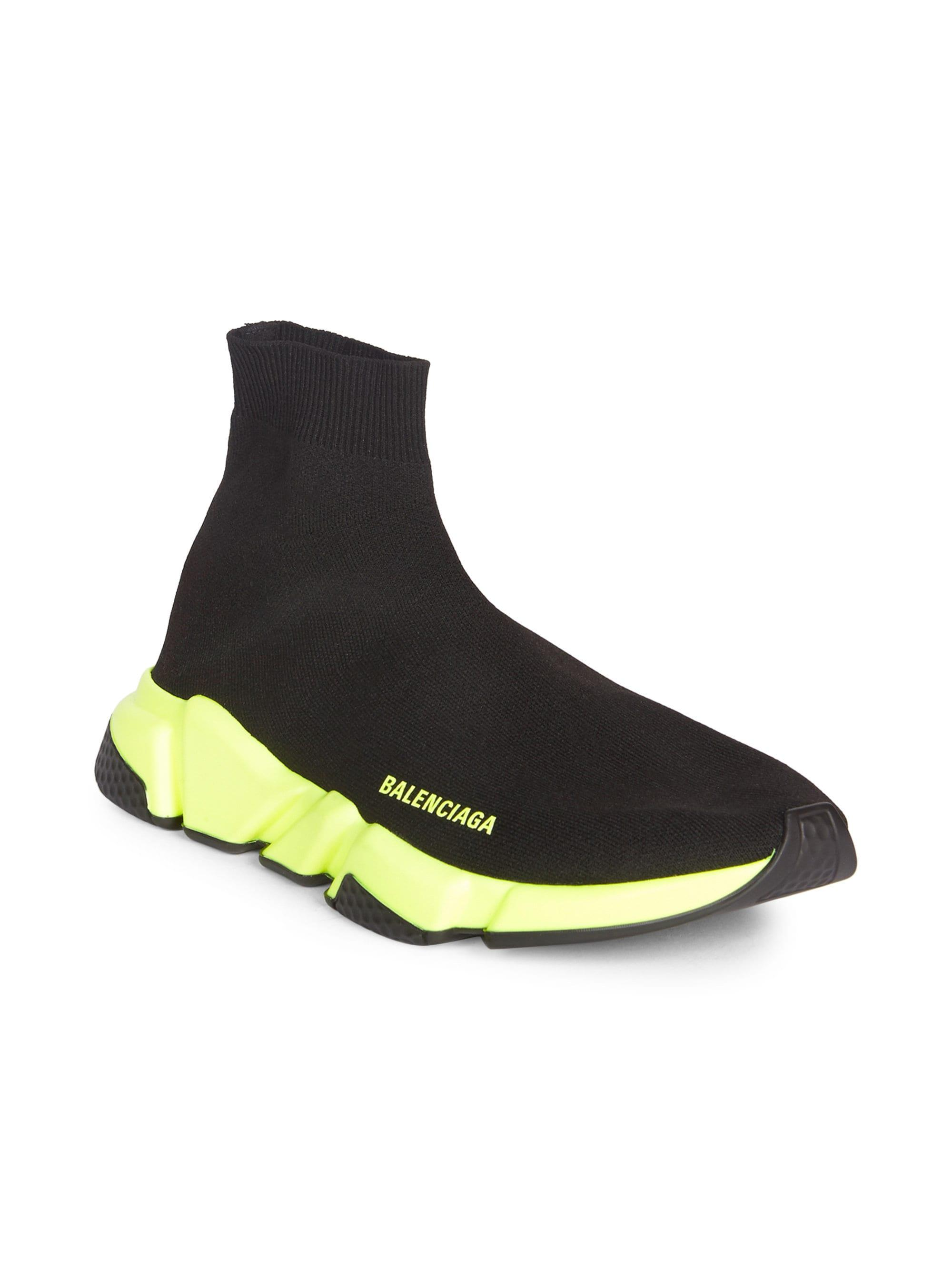 1df1d20d53798 Balenciaga Men s Speed Trainer Sock Sneakers - Black - Size 39 (6) E ...