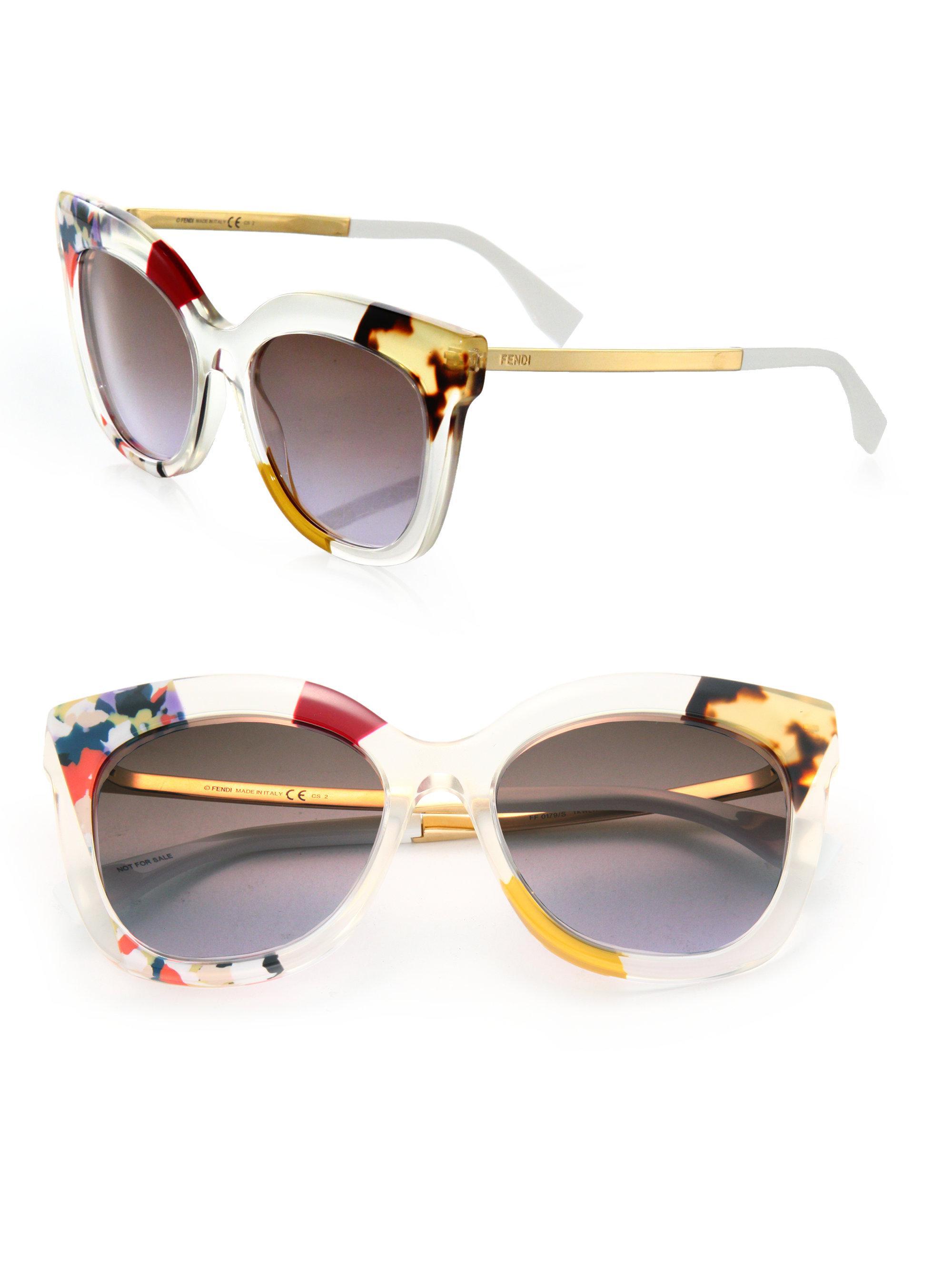 ba1e5ebcb065 Lyst - Fendi 53mm Oversized Cat Eye Sunglasses