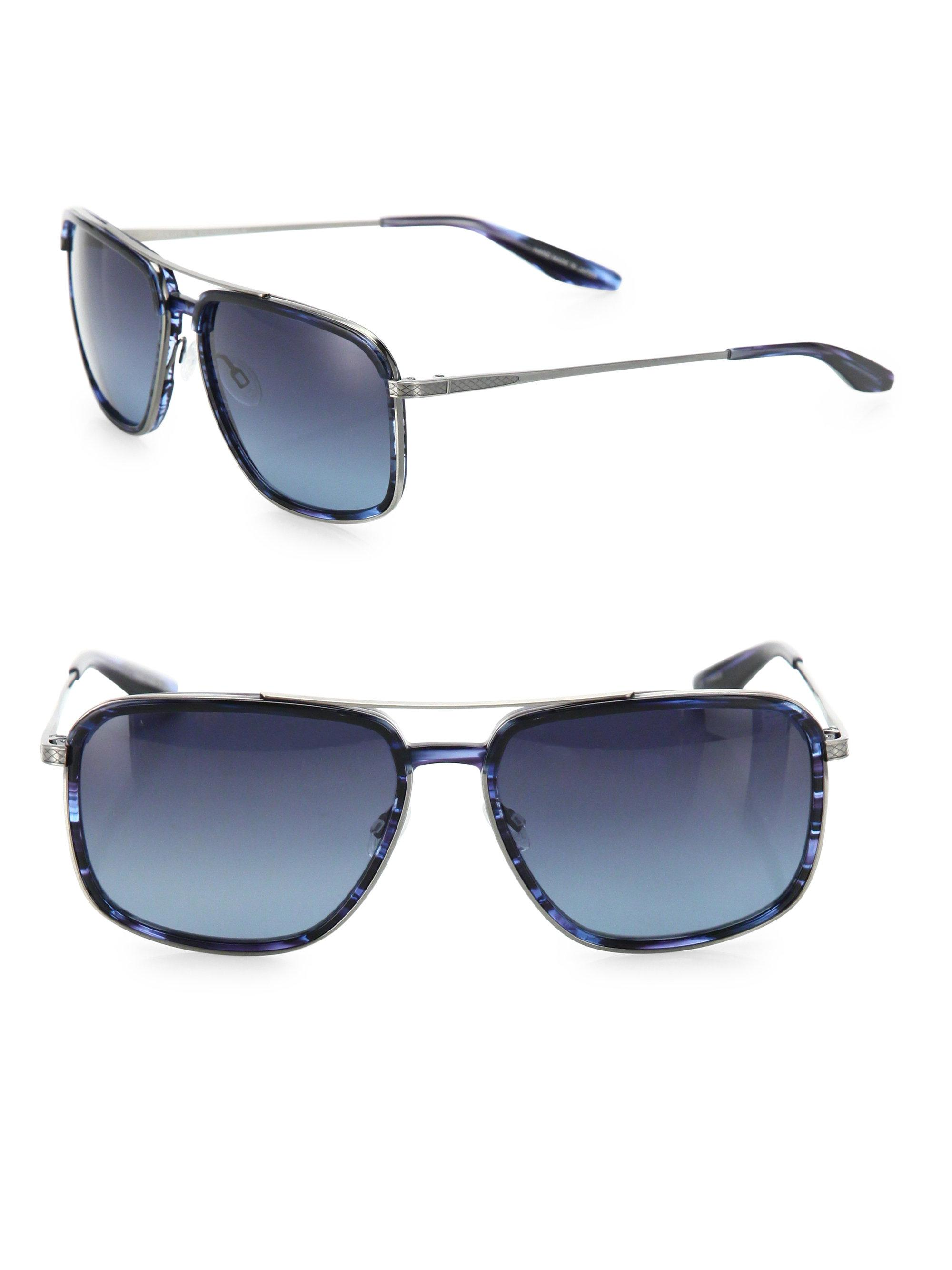 15c9424f87 Barton Perreira Magnate Midnight 60mm Navigator Sunglasses in Blue ...