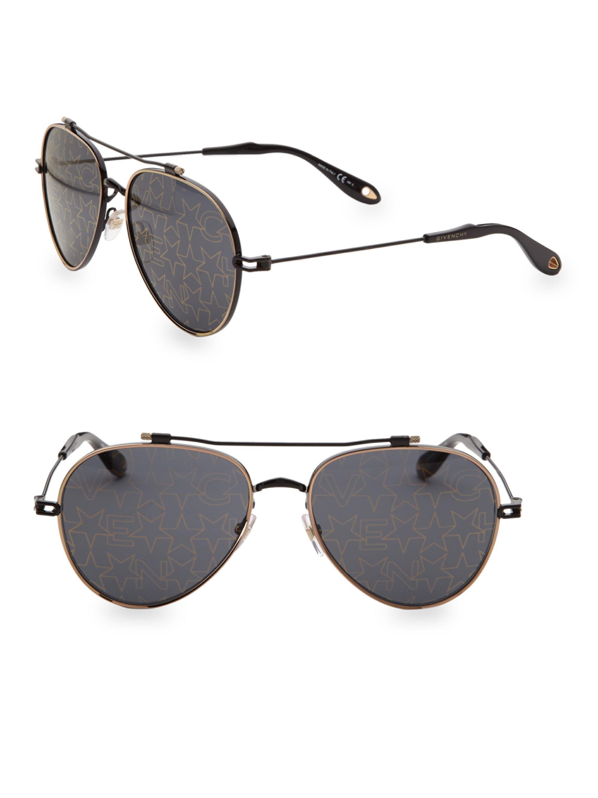 af0e21b86 Givenchy - Metallic 58mm Aviator Sunglasses for Men - Lyst. View fullscreen