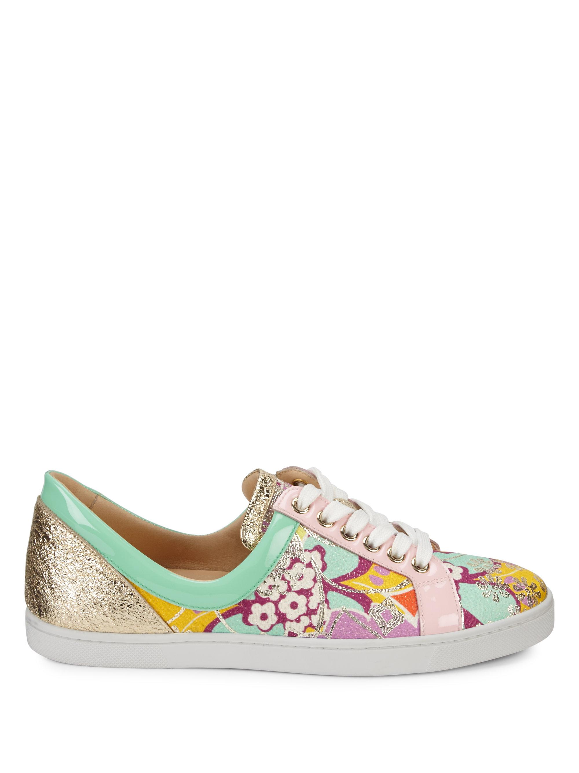 8660098da353 ... where can i buy lyst christian louboutin flamingirl glitter sneakers  01825 2df0a