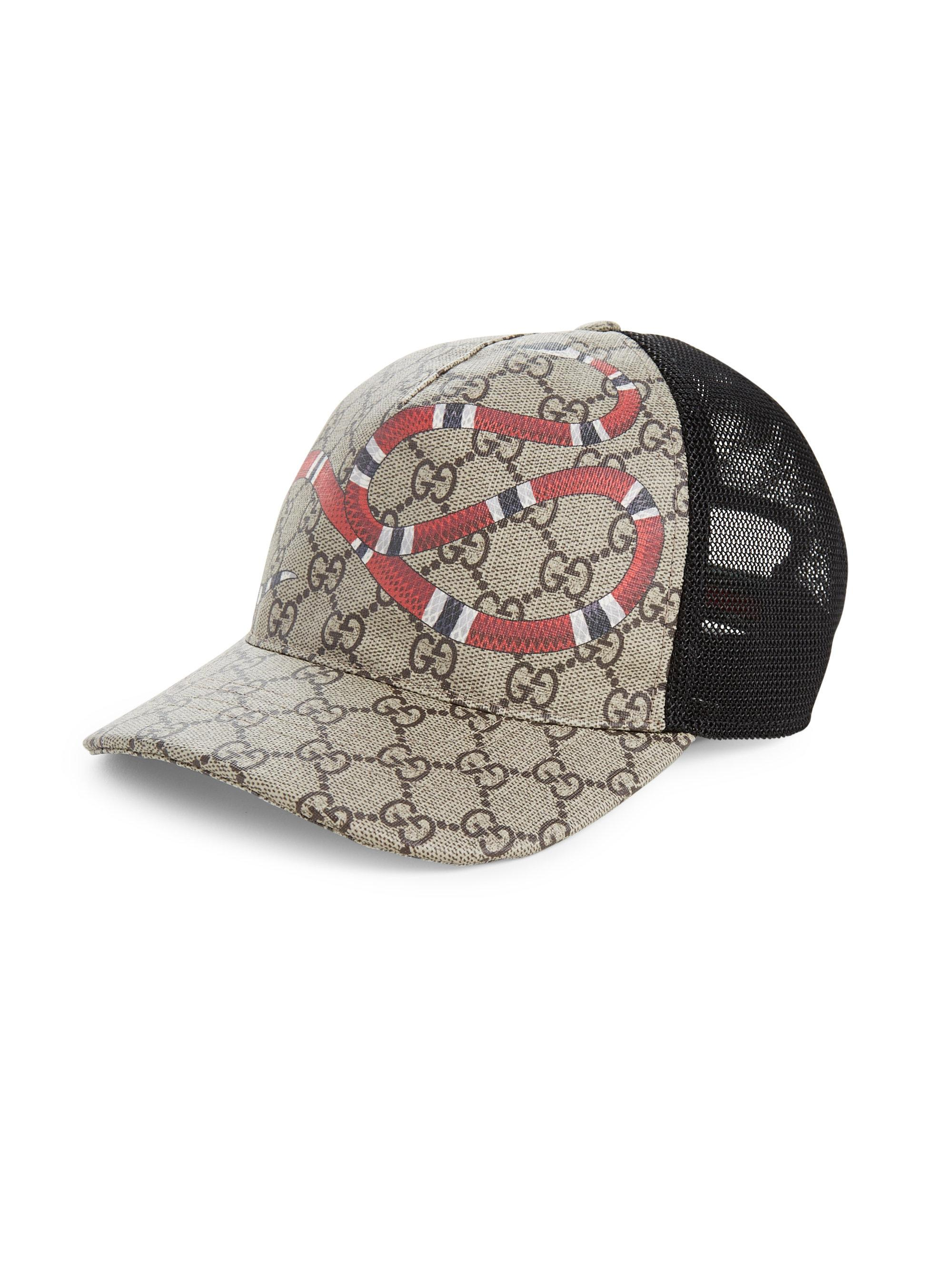 db88cf63 Gucci Snake Baseball Cap in Natural for Men - Lyst