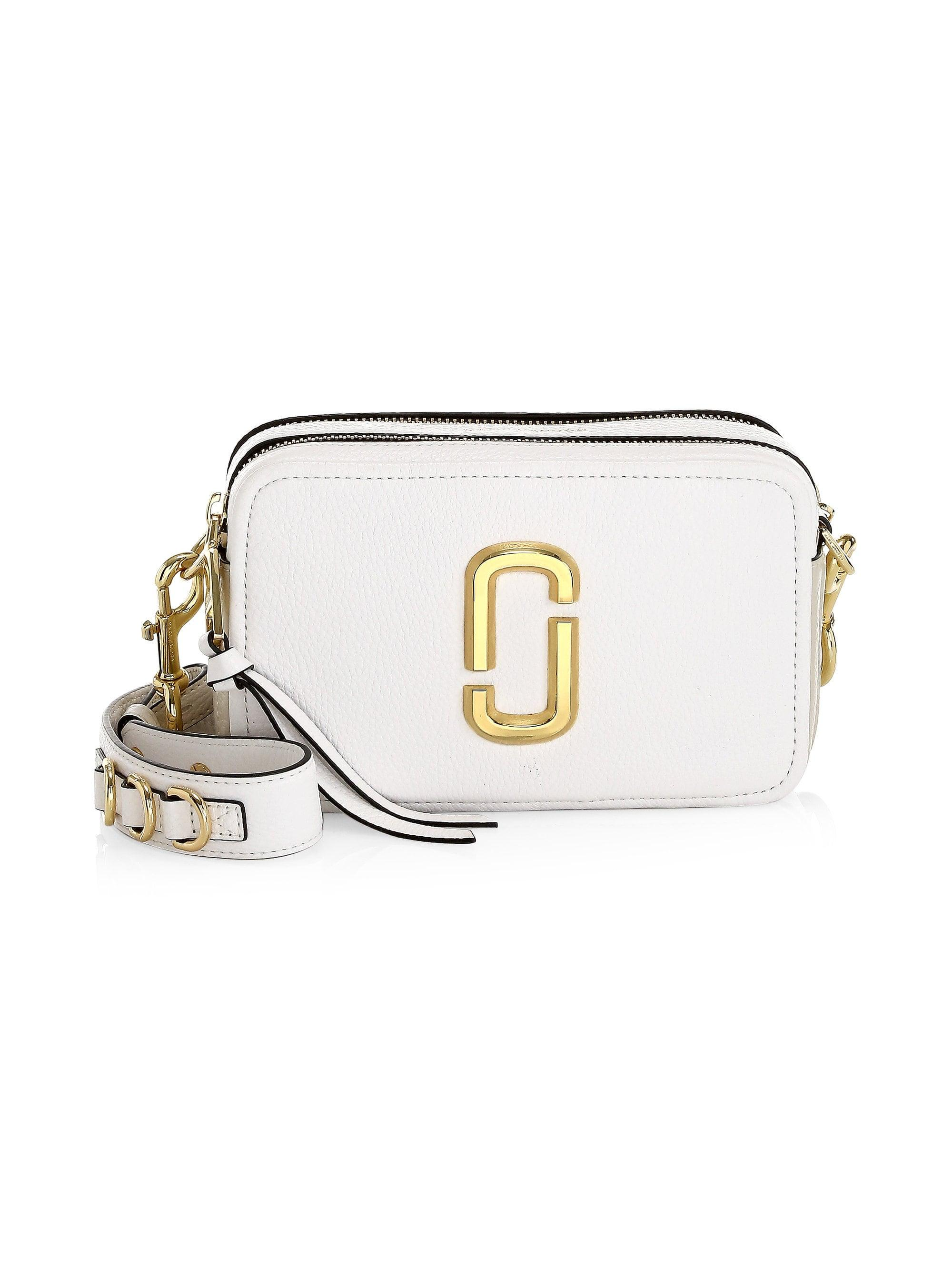 258588e6663f Marc Jacobs. Women s White The Softshot 21 Leather Crossbody Bag.  350 From Saks  Fifth Avenue