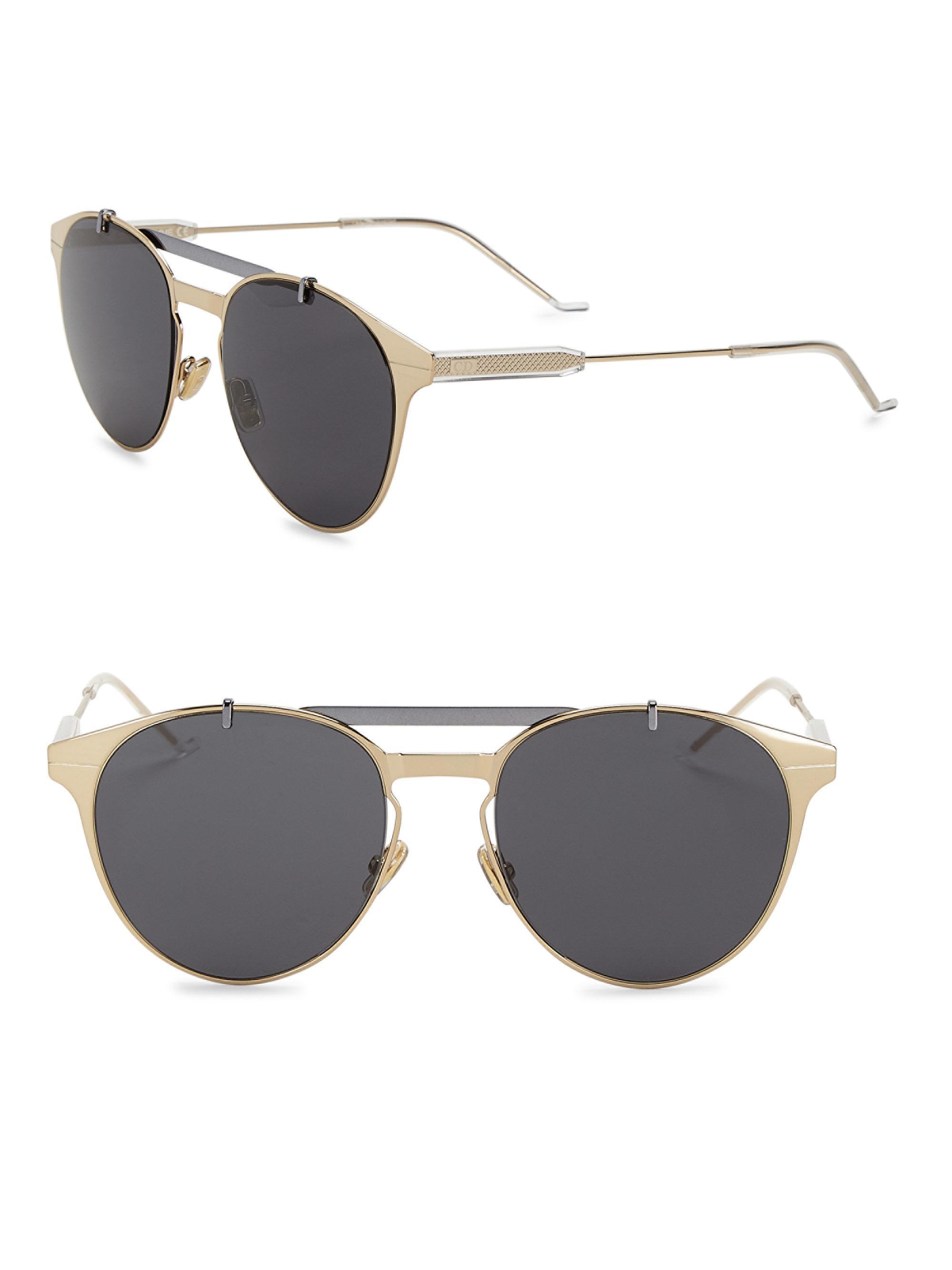 c17de8696a7 Lyst - Dior Homme Dior Motion1 53mm Aviator Sunglasses in Metallic ...
