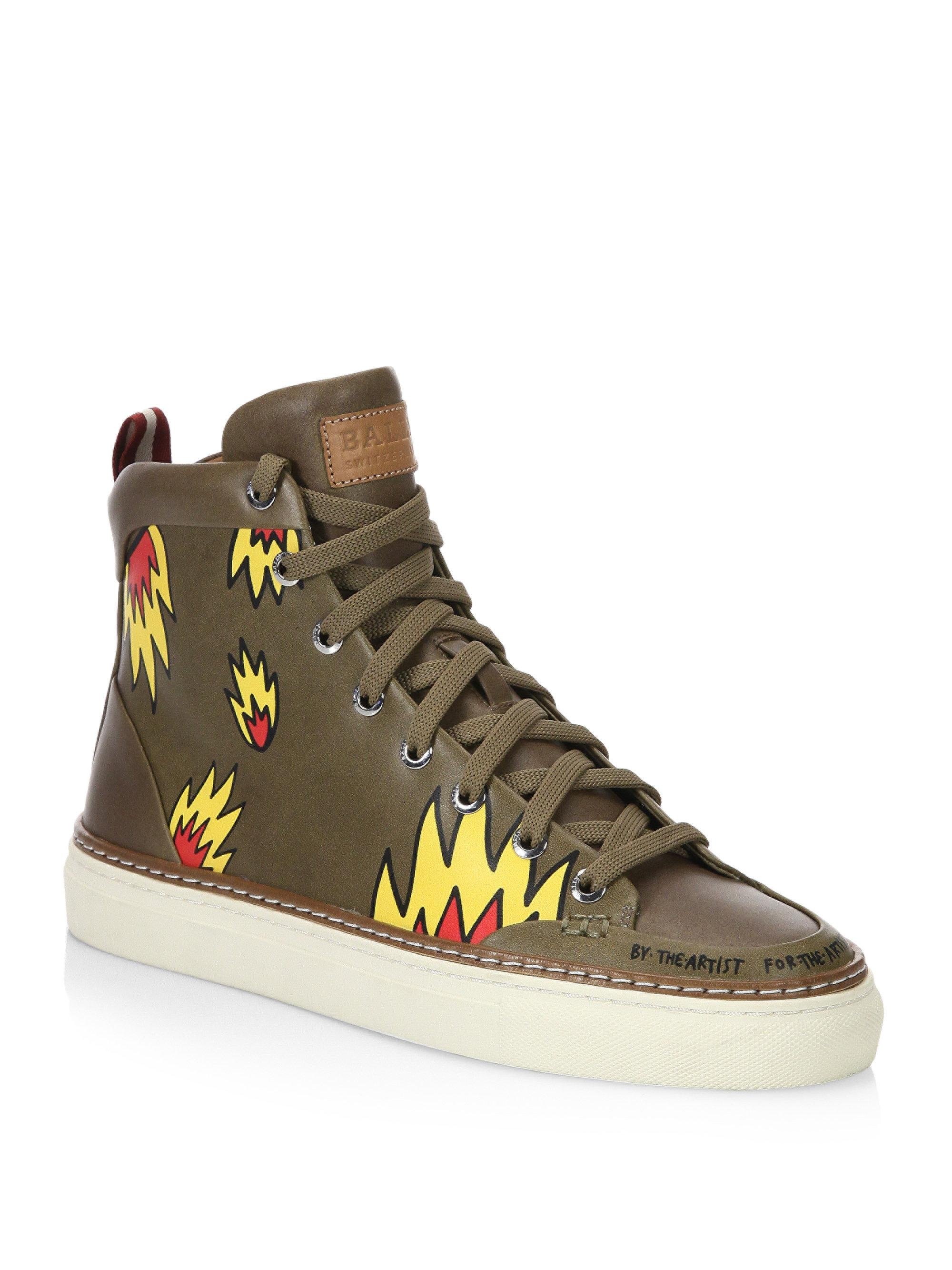 where can i order with credit card cheap price Bally printed sneakers view sale newest VEJpv
