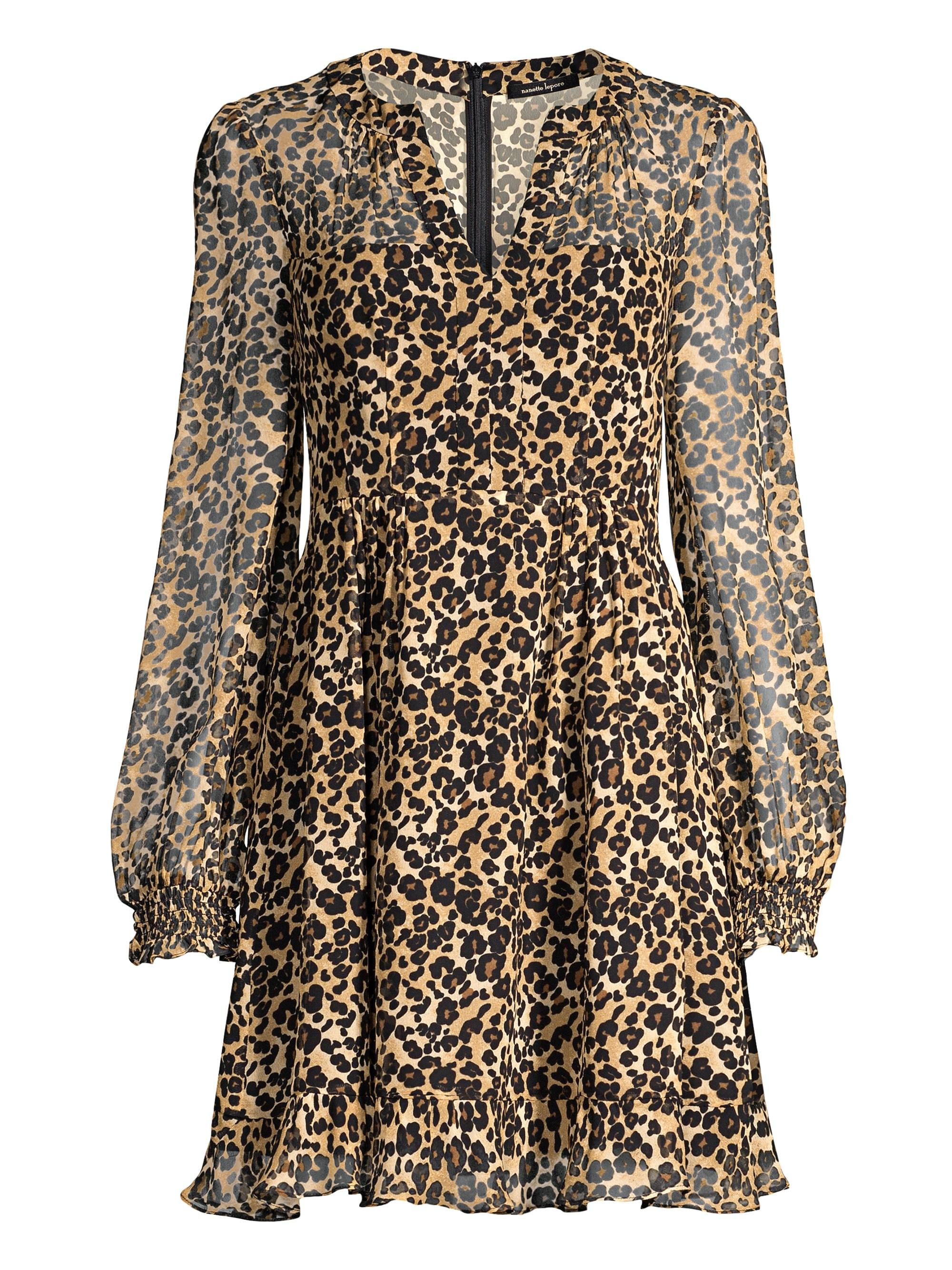a855b5fd3912 Lyst - Nanette Lepore Cactus Animal Print Fit-&-flare Dress