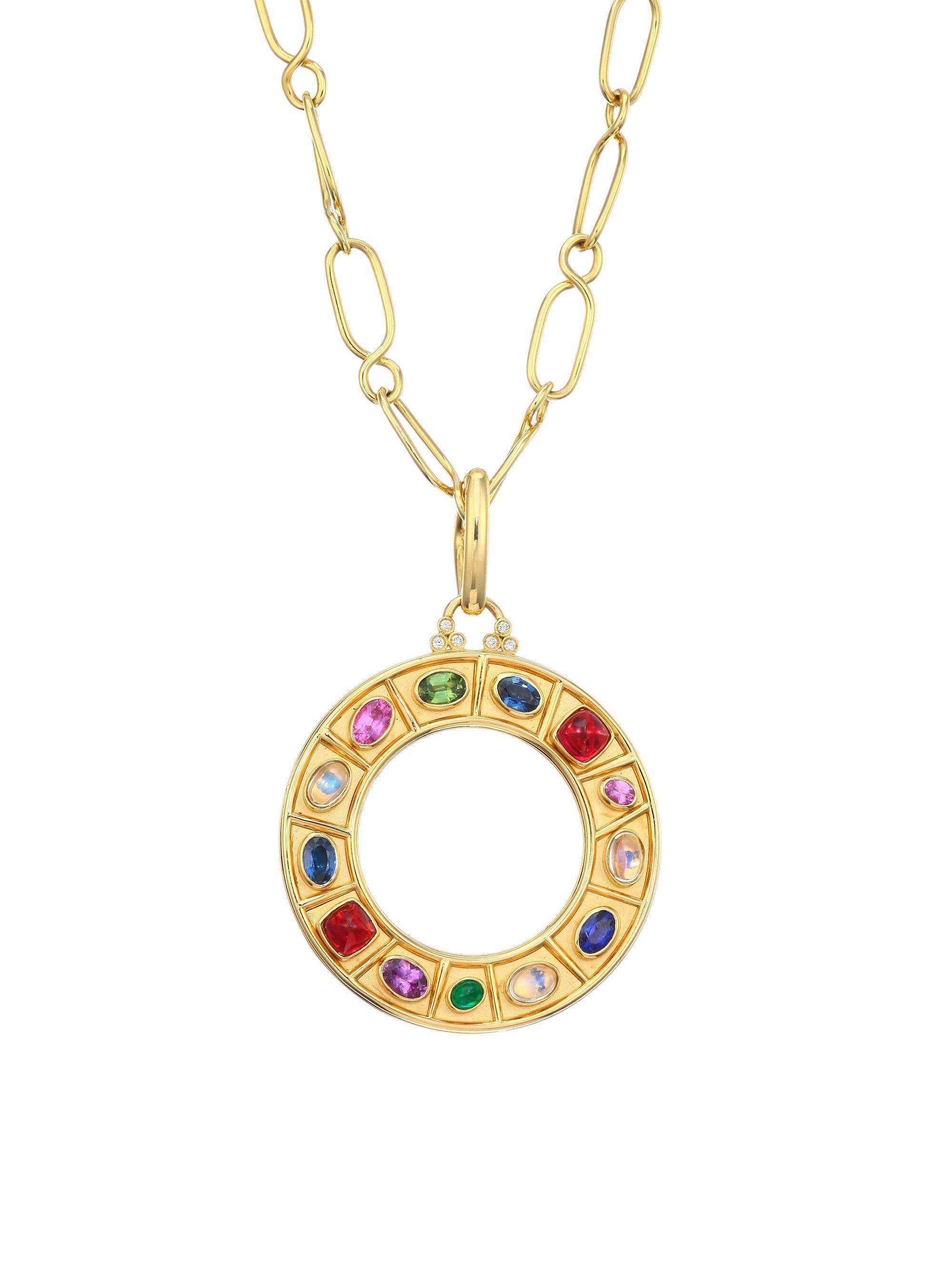 Women's Metallic Natr Recon 18k Yellow Gold Multi-gem Pendant Necklace -  Gold