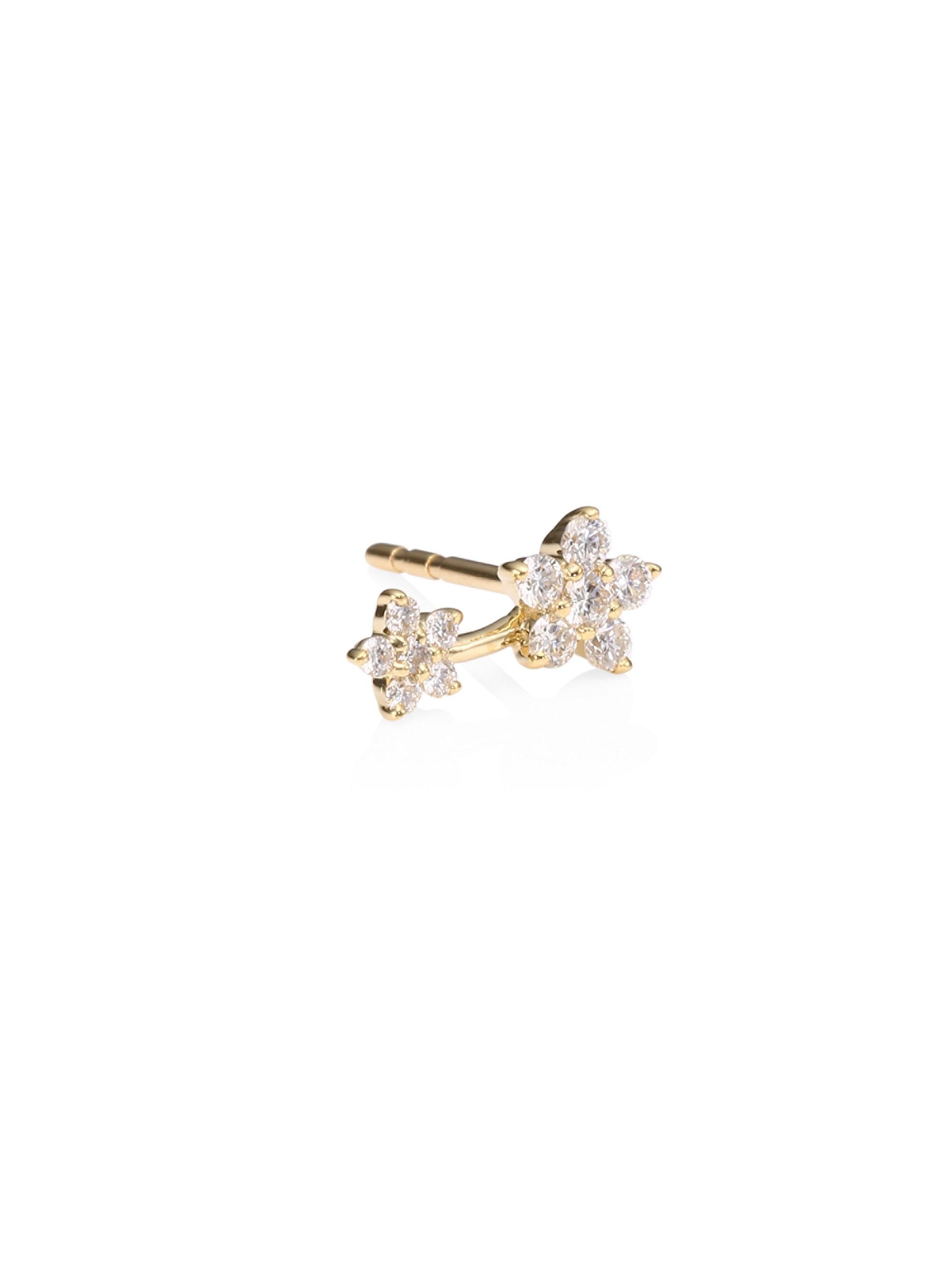 com online stud earrings john buynina nina gold diamond flower lewis white pdp johnlewis main b at big rsp