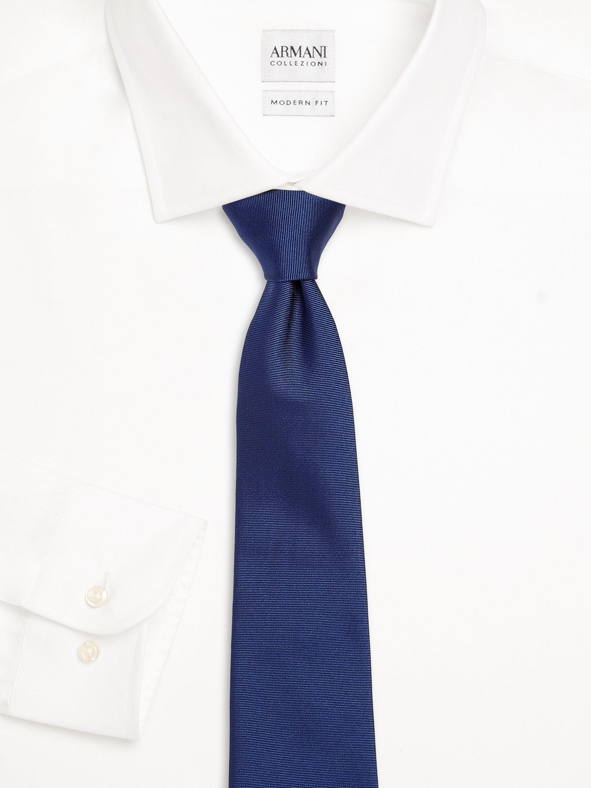 f099cf267375 where to buy armani pin striped silk tie in blue for men lyst 049b0 3bce5