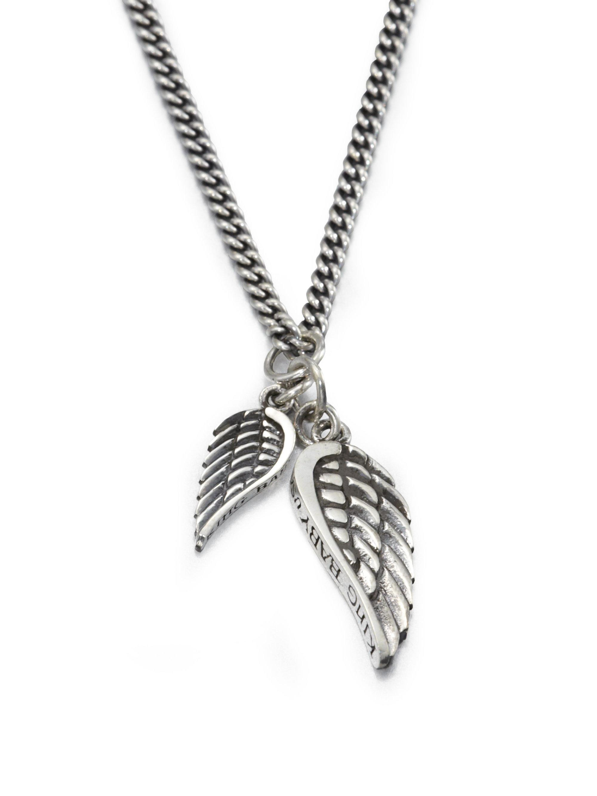 pendant cubic chain angel your silver jewellery product to wing solid