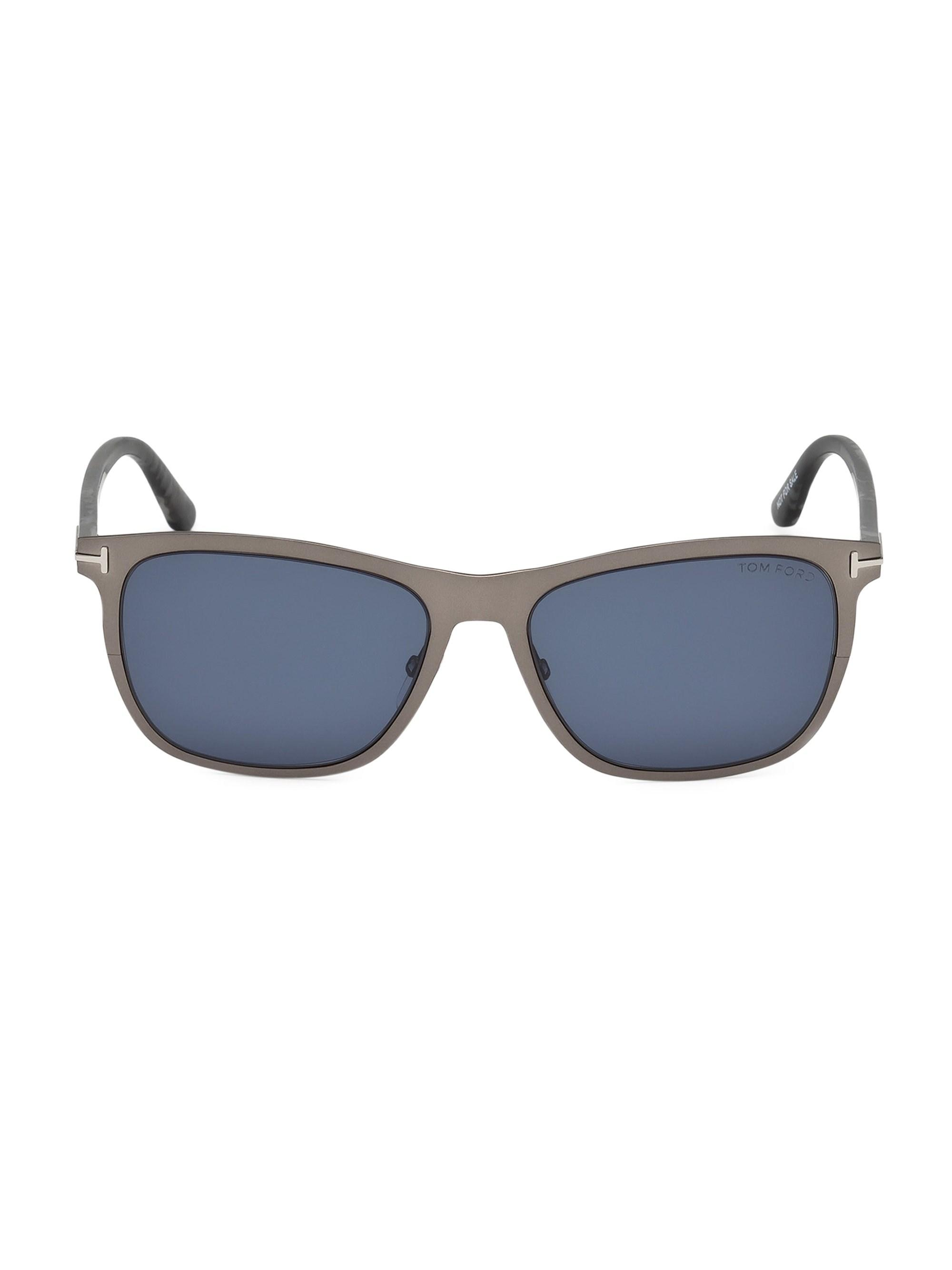 68935242f44 Tom Ford - Blue Alasdhair 55mm Square Sunglasses for Men - Lyst. View  fullscreen