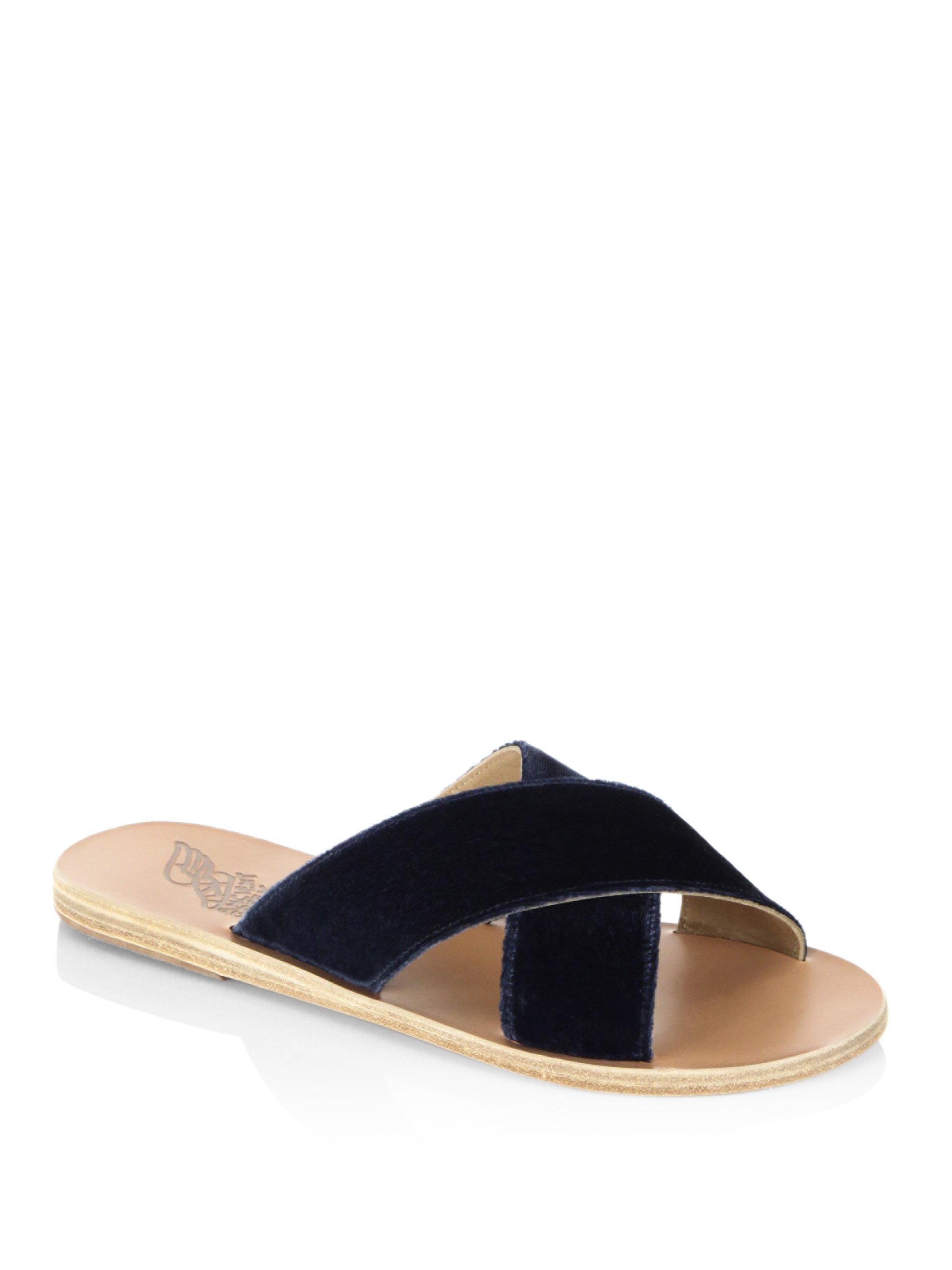 Thais sequined leather slides Ancient Greek Sandals hlTI92
