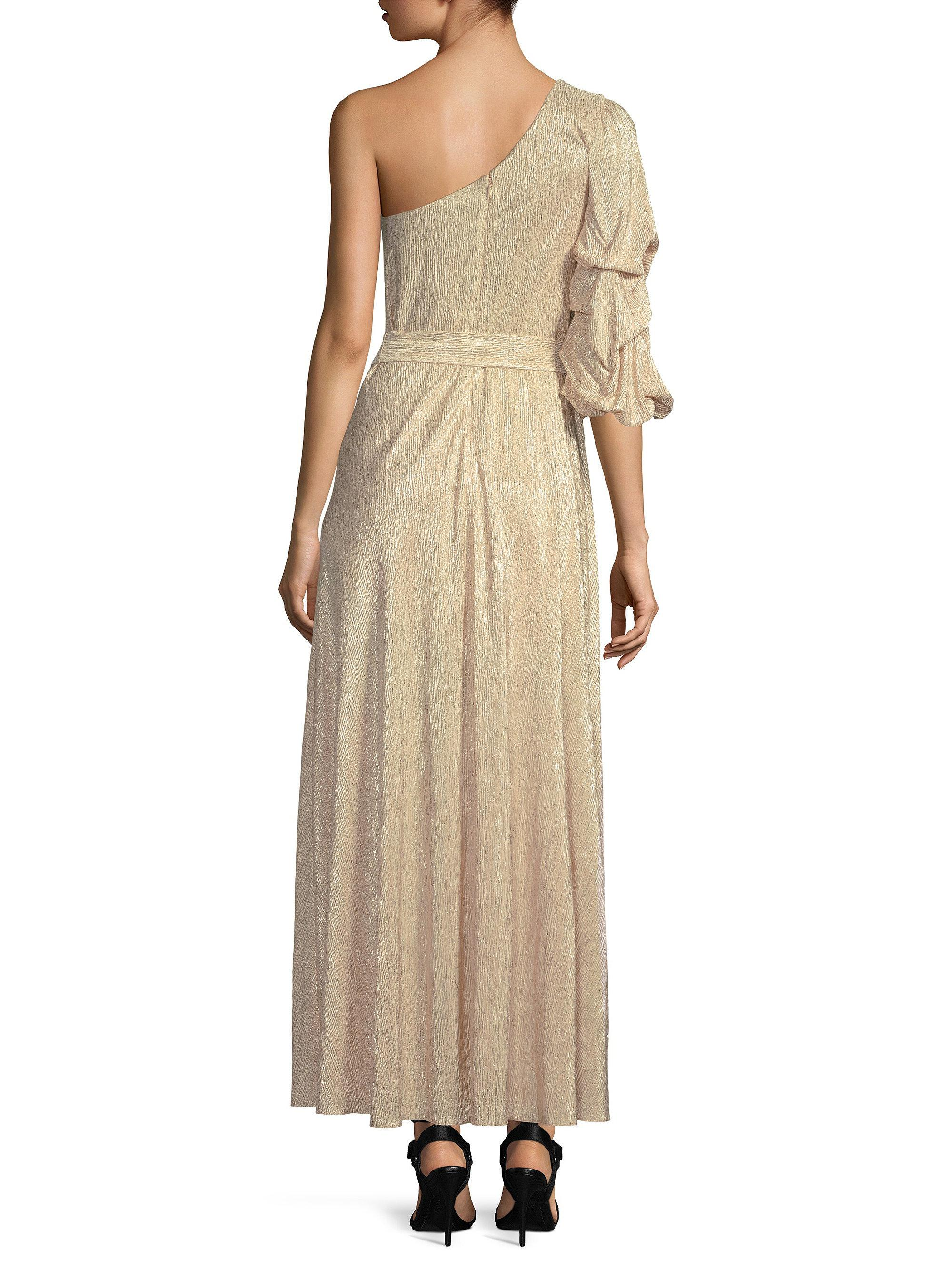 dc59f844022 Alice + Olivia Jeanie One Shoulder Maxi Dress in Natural - Lyst
