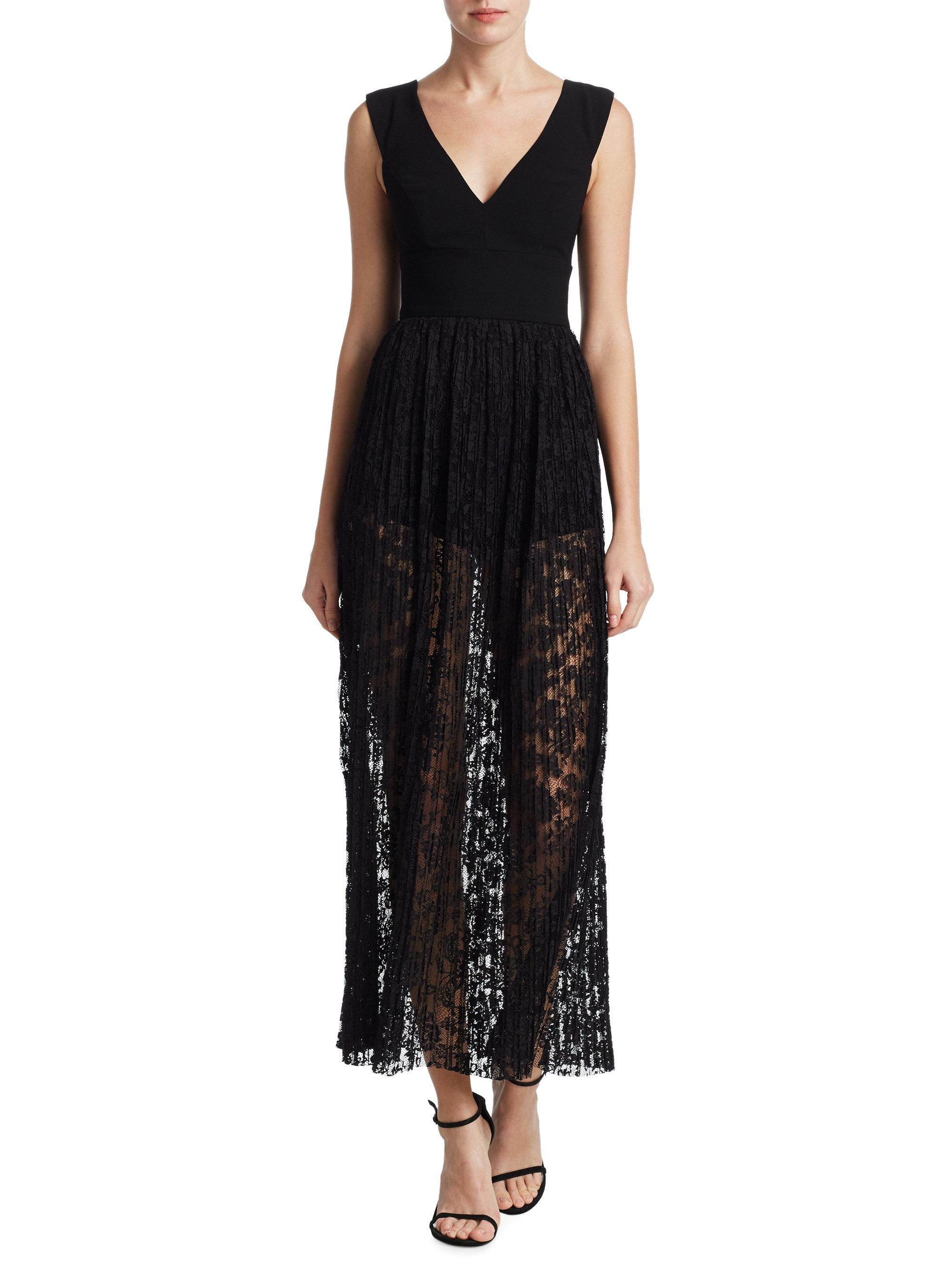 bc58869bf106 Lyst - ML Monique Lhuillier Lace Overlay Romper in Black