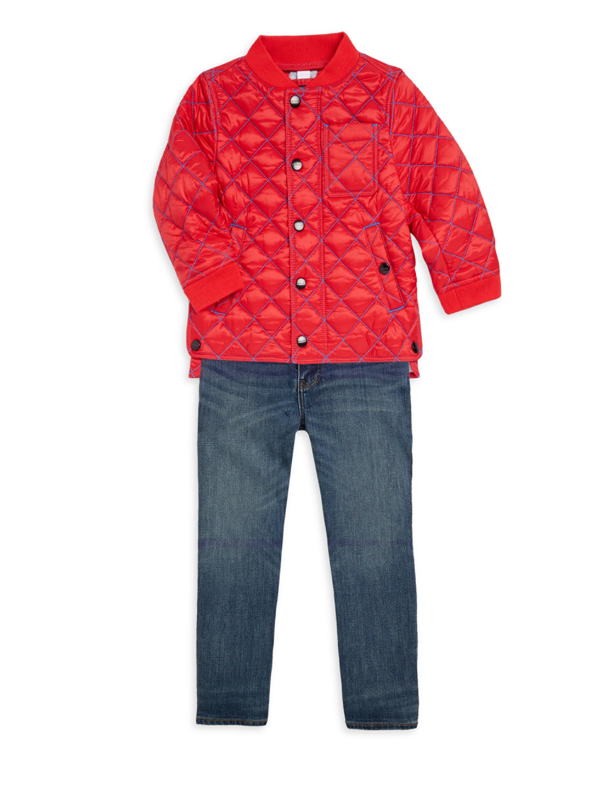 7f3979a4c Burberry Baby Boy's & Little Boy's Quilted Bomber Jacket in Red for ...