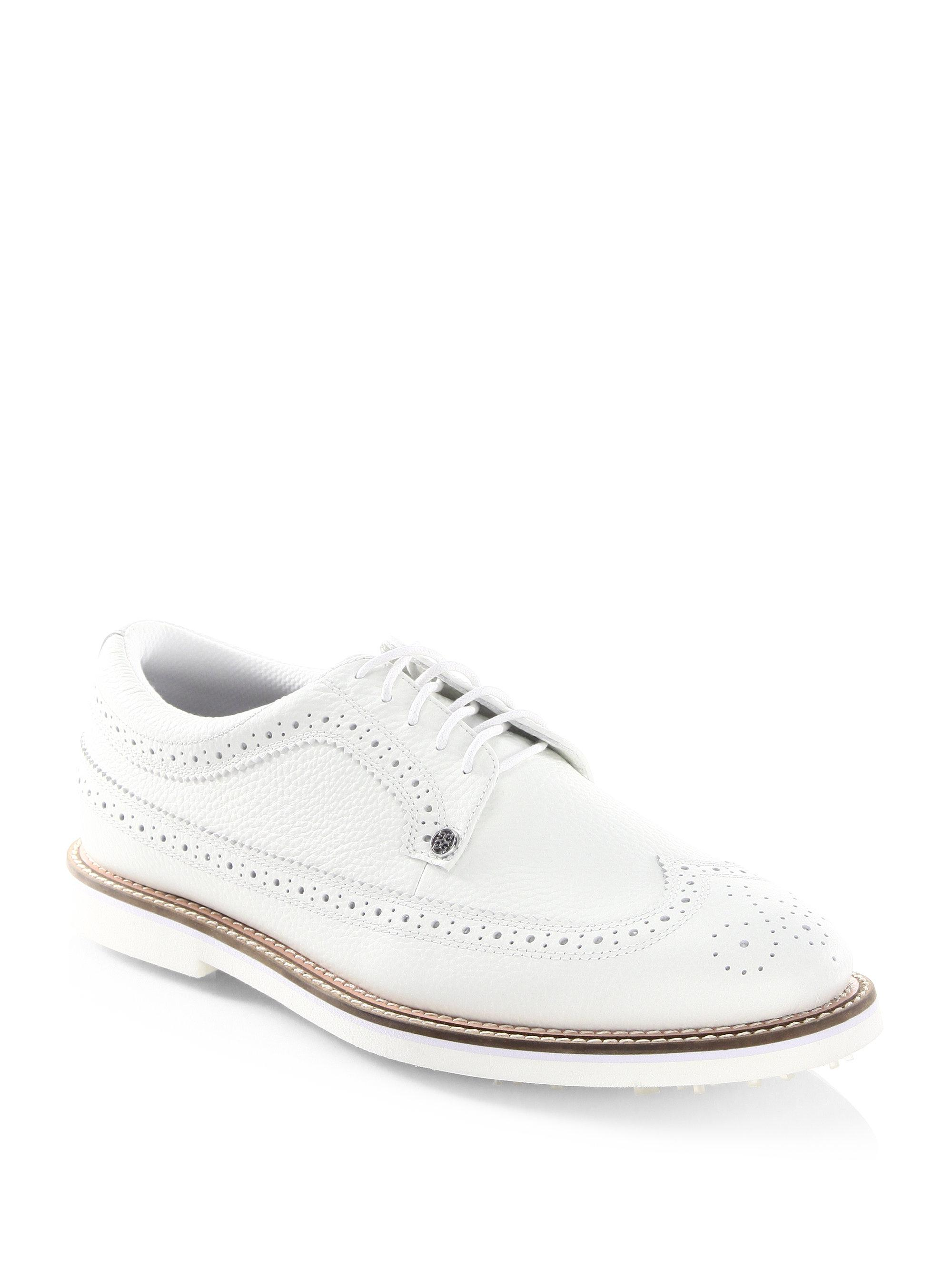 G/FORE Long Wingtip Wingtip Leather Oxford Shoes JKnB39f