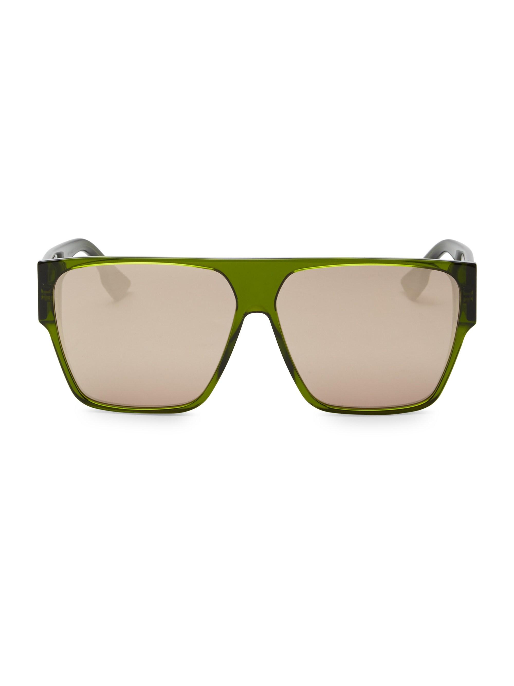 488dc60eb9d4 Lyst - Dior Women s 62mm Hit Flat Top Sunglasses - Brown in Green