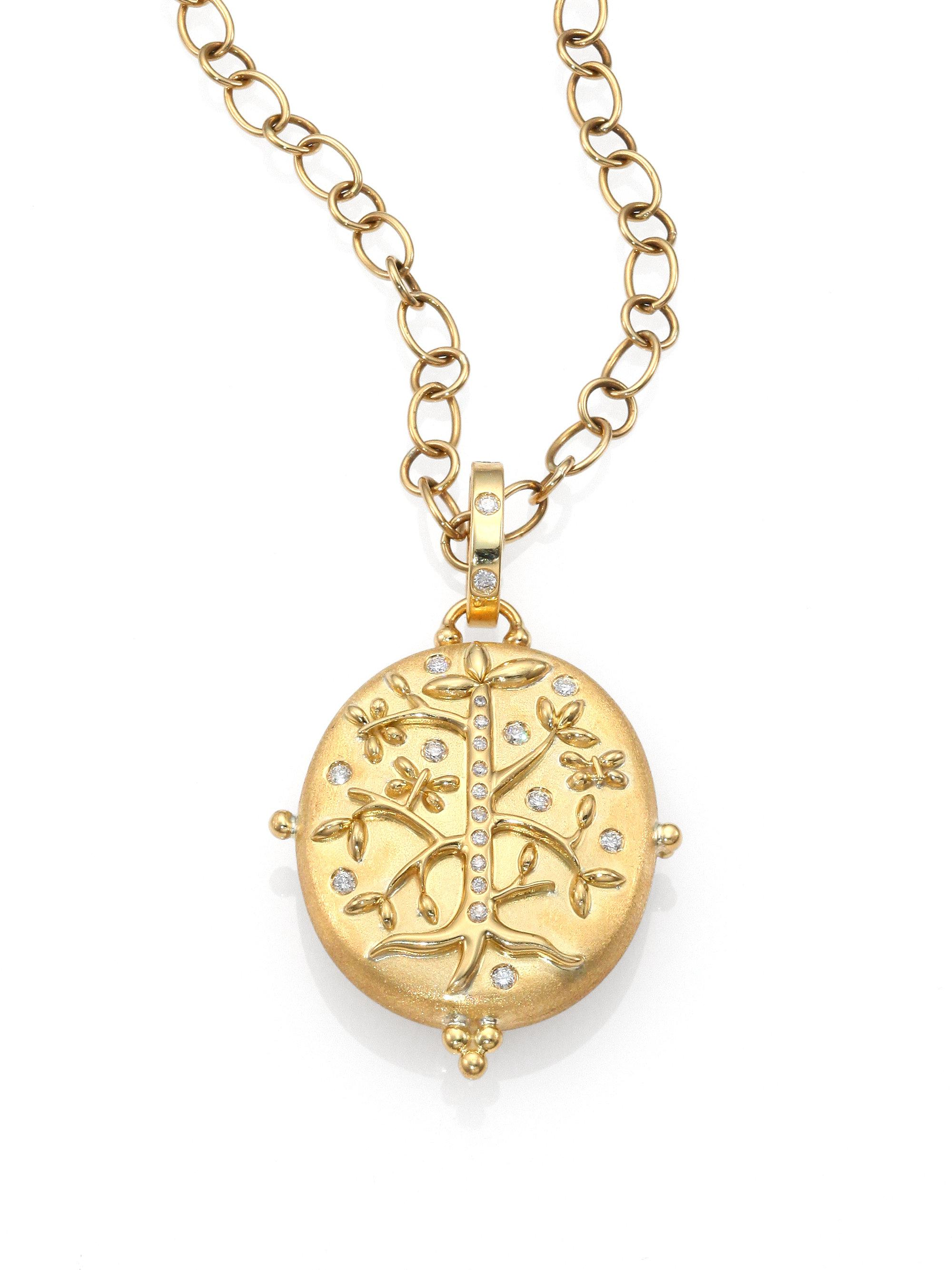 Diamoire Jewels Marbled 18kt Yellow Gold Ruby Pendant with Diamonds aEhjBty1