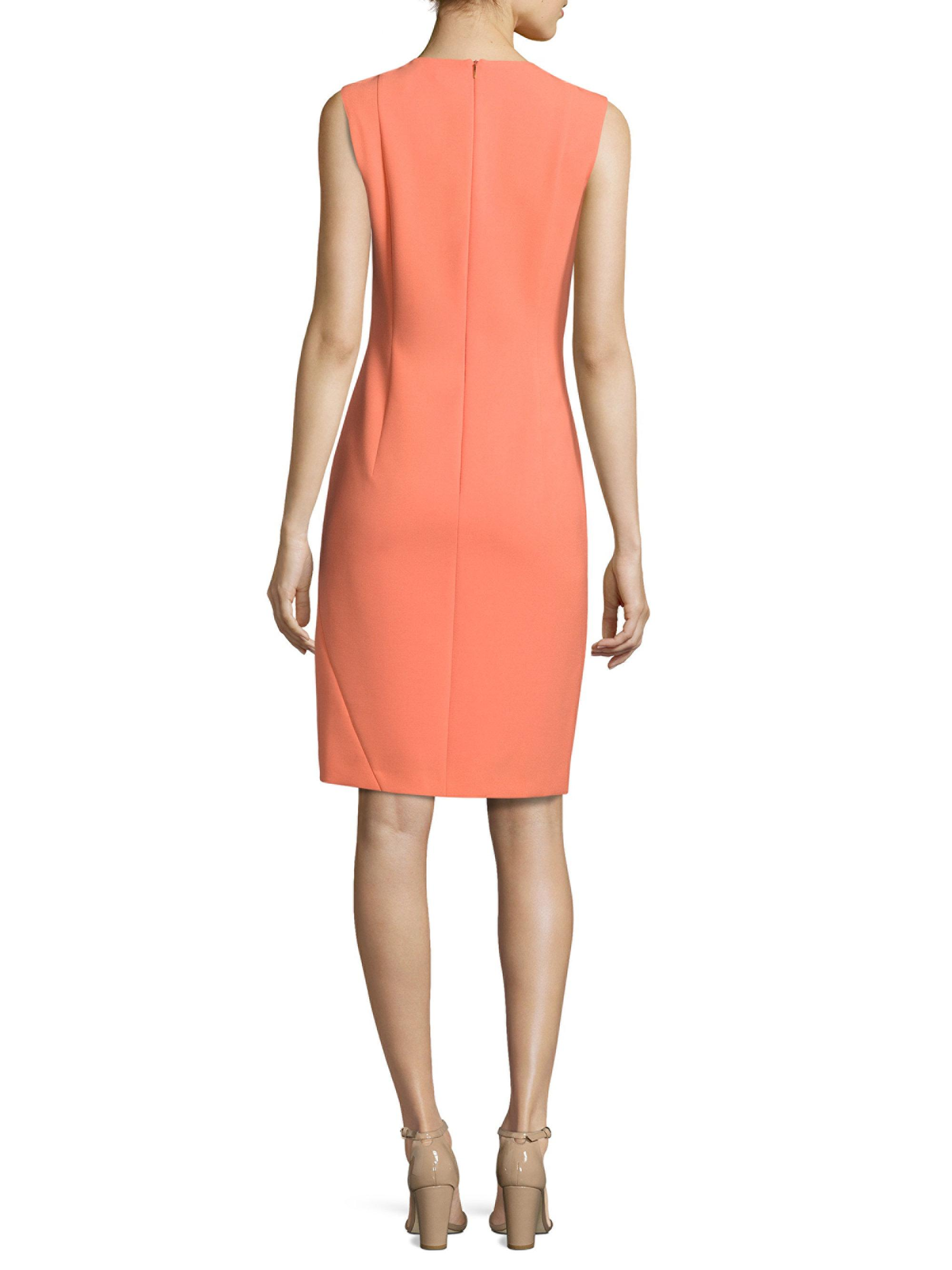 9b755cca BOSS Demisana Ponte Sheath Dress in Pink - Lyst