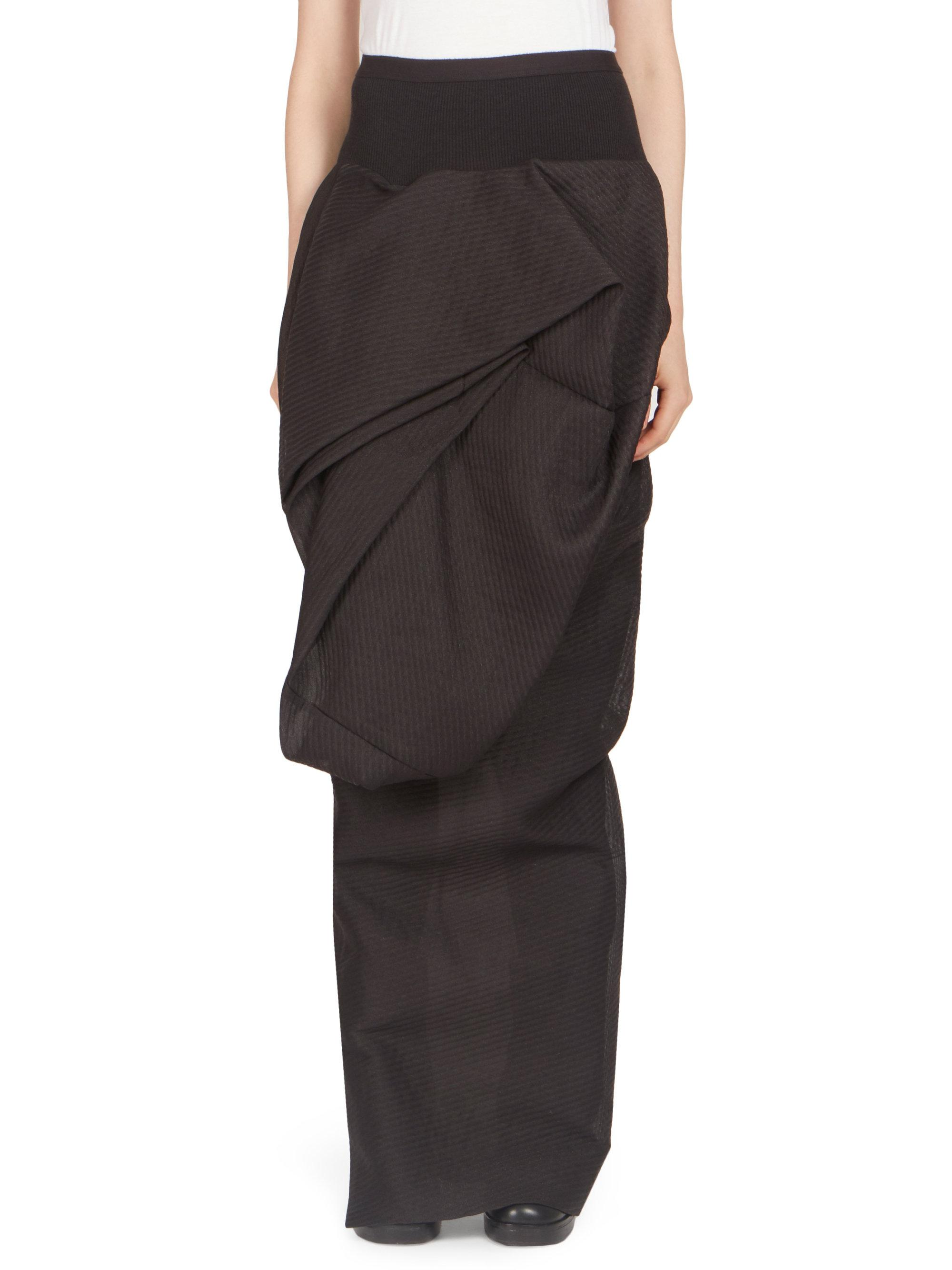 Rick Owens Twist skirt Cost Cheap Price In China Cheap Price Free Shipping For Sale Fashion Style Cheap Online s0Q2c