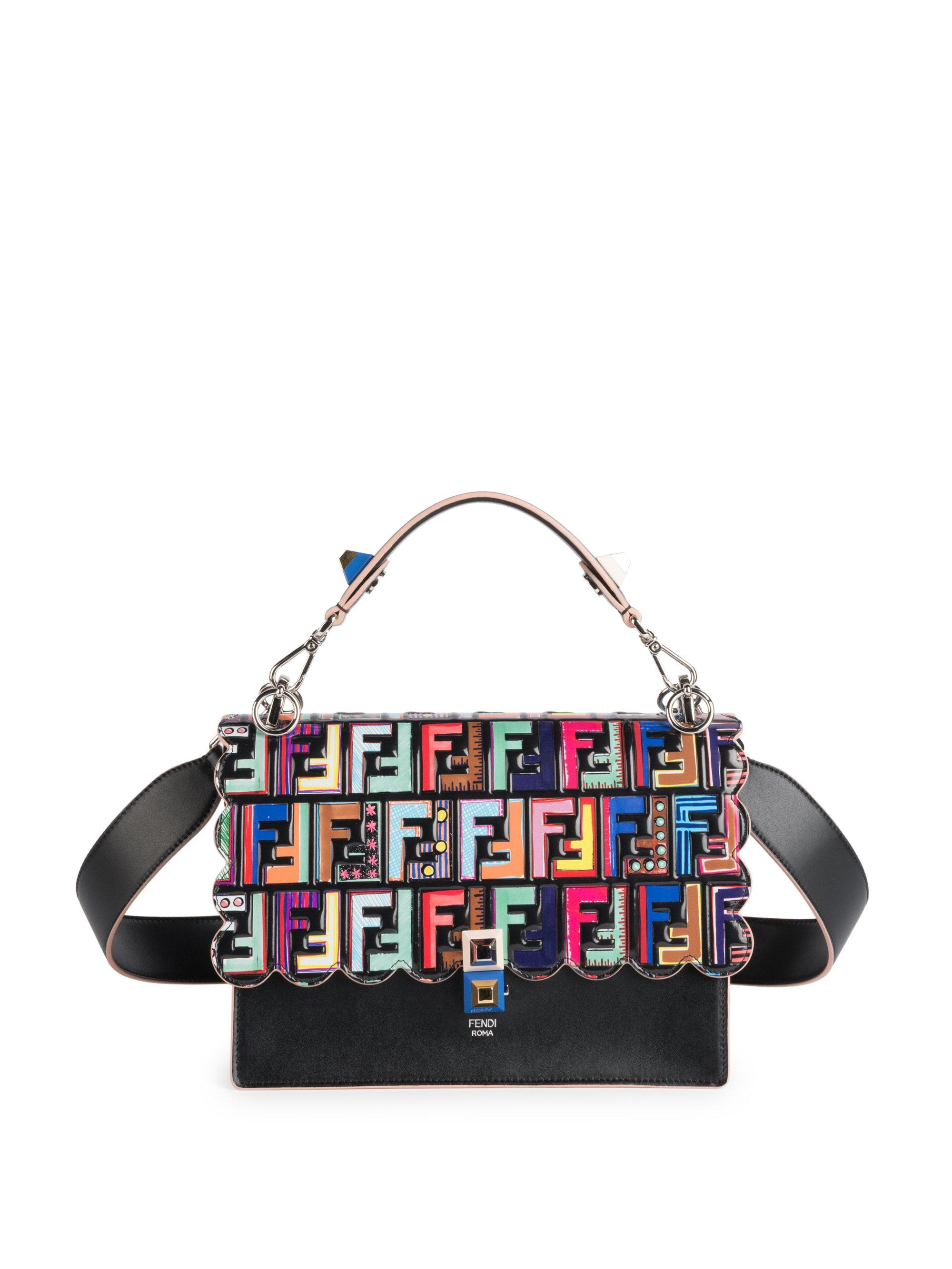 a931d6083ad7 Lyst - Fendi Fun Fair Kan Printed Bag