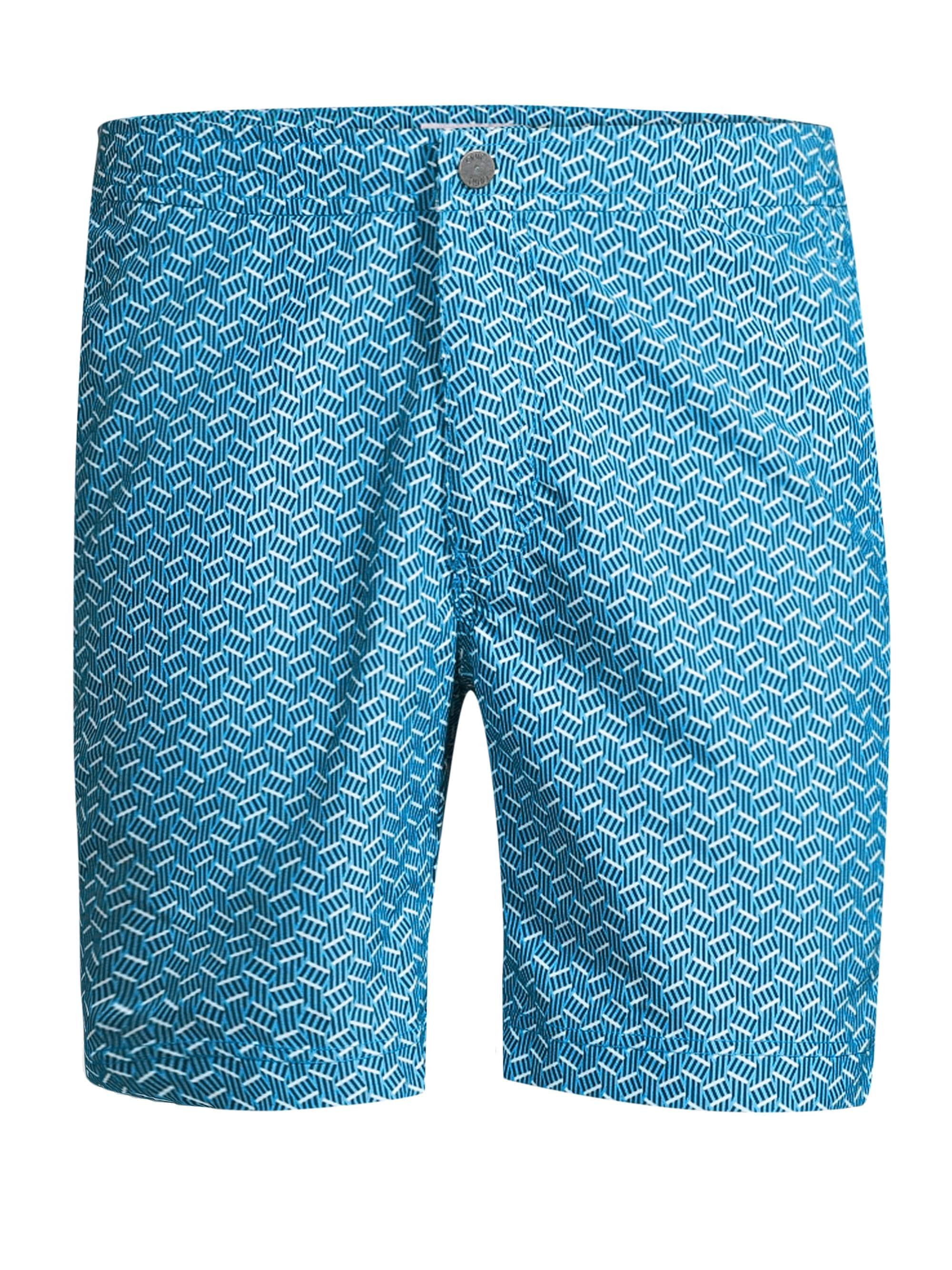 080643ec787b0 Onia Calder Geometric Swim Trunks in Blue for Men - Lyst