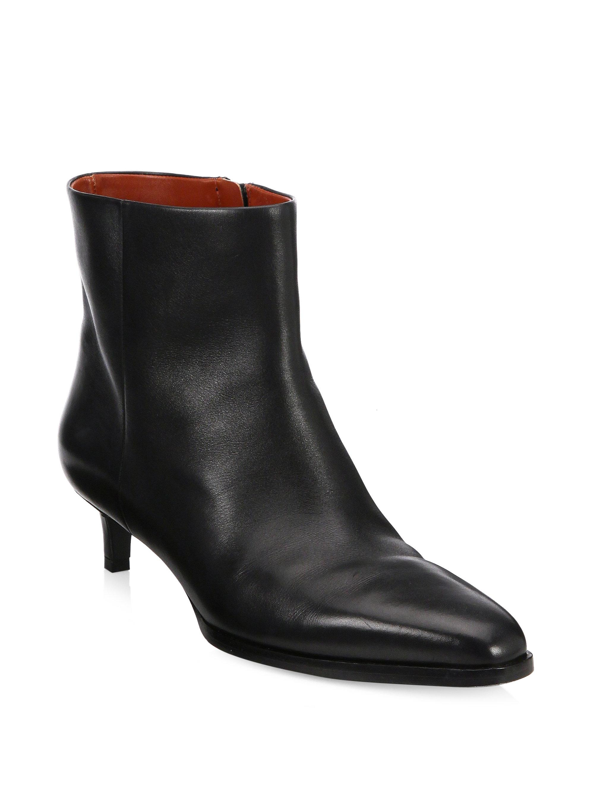 3.1 Phillip Lim Agatha Leather Lace-Up Booties