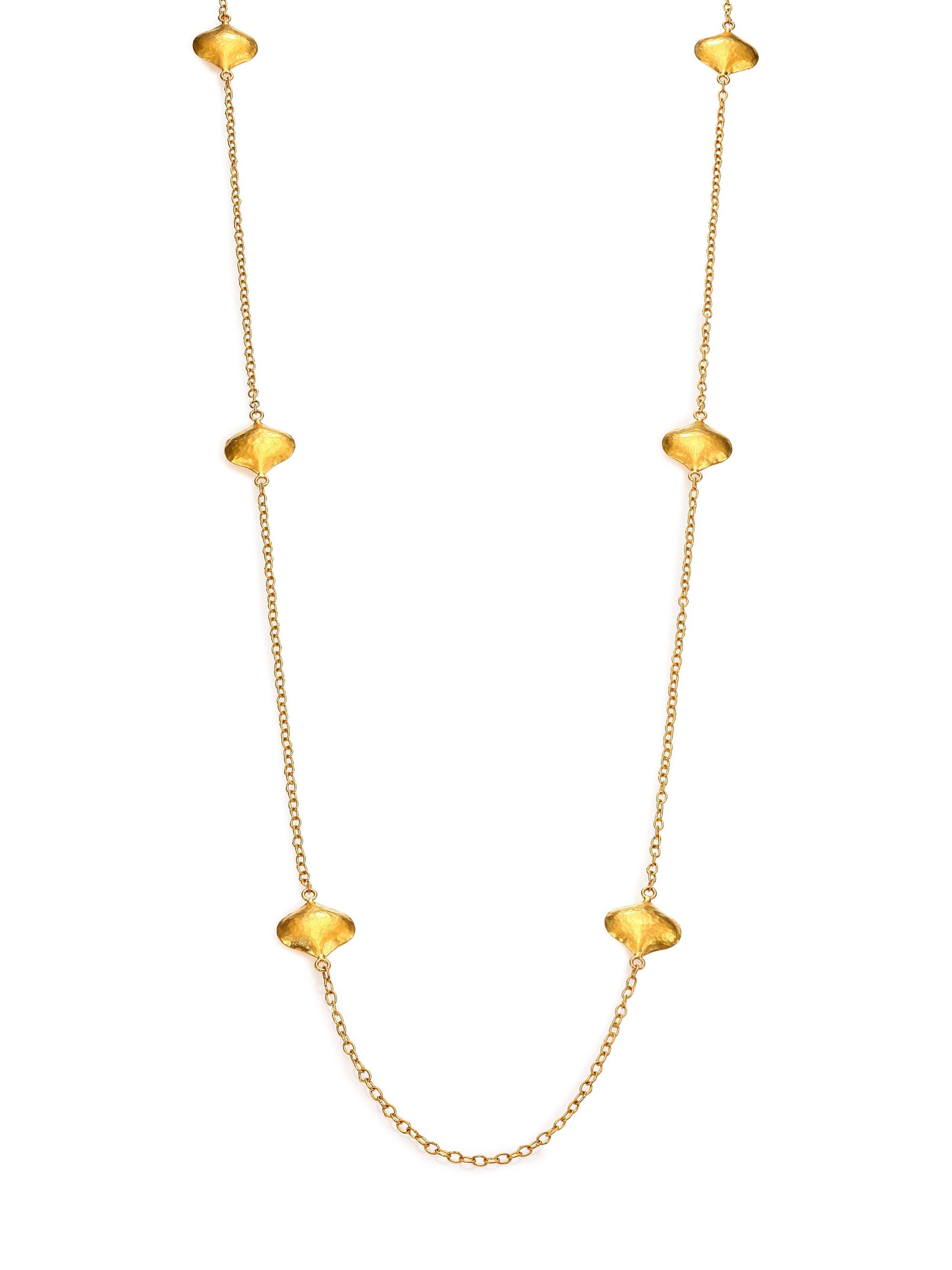 Gurhan Clustered Long Clove Flake Station Necklace 7Pe862xOOl