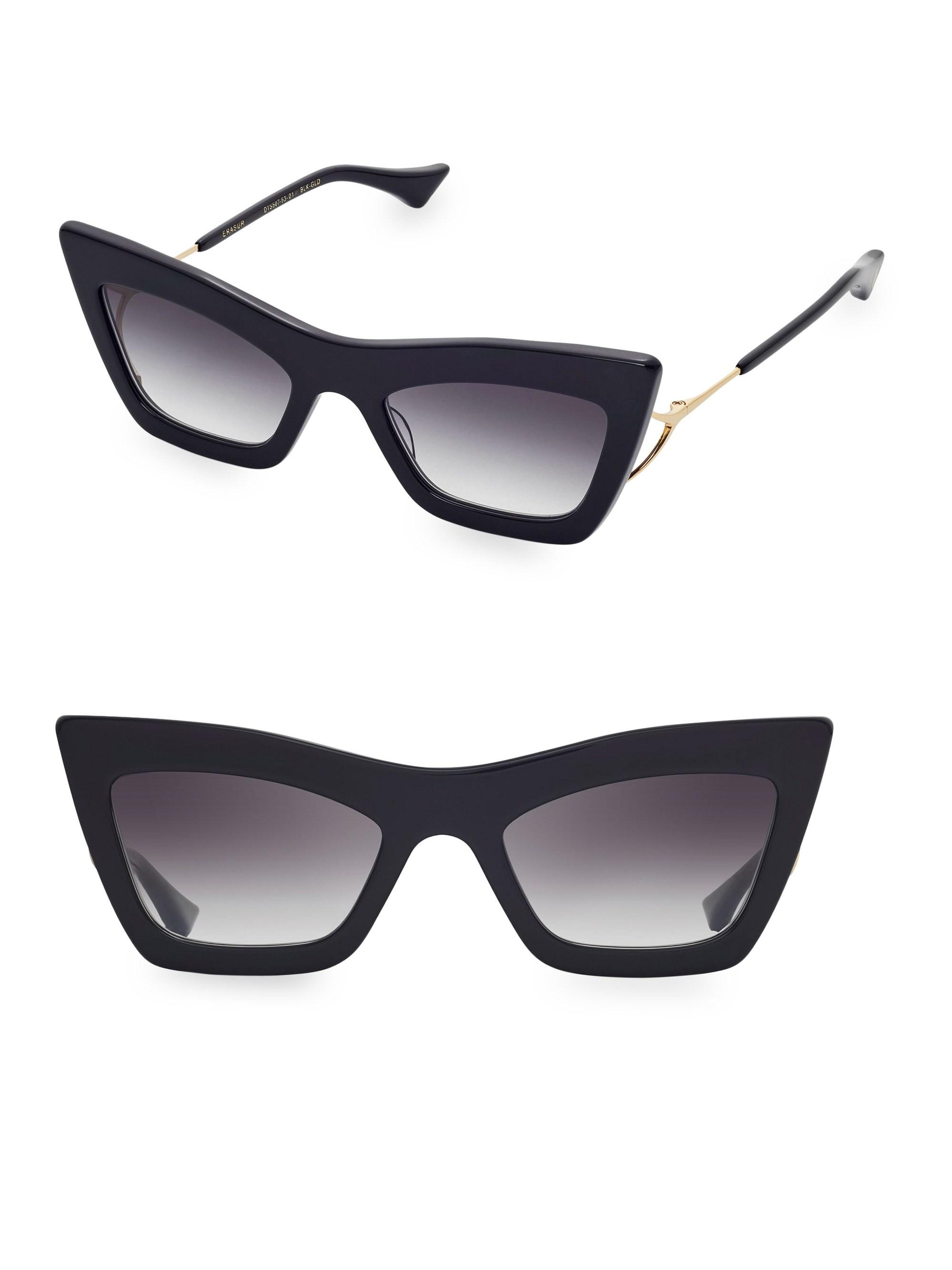 38ae0121989 Lyst - Dita Eyewear Erasur 53mm Cat-eye Sunglasses in Black